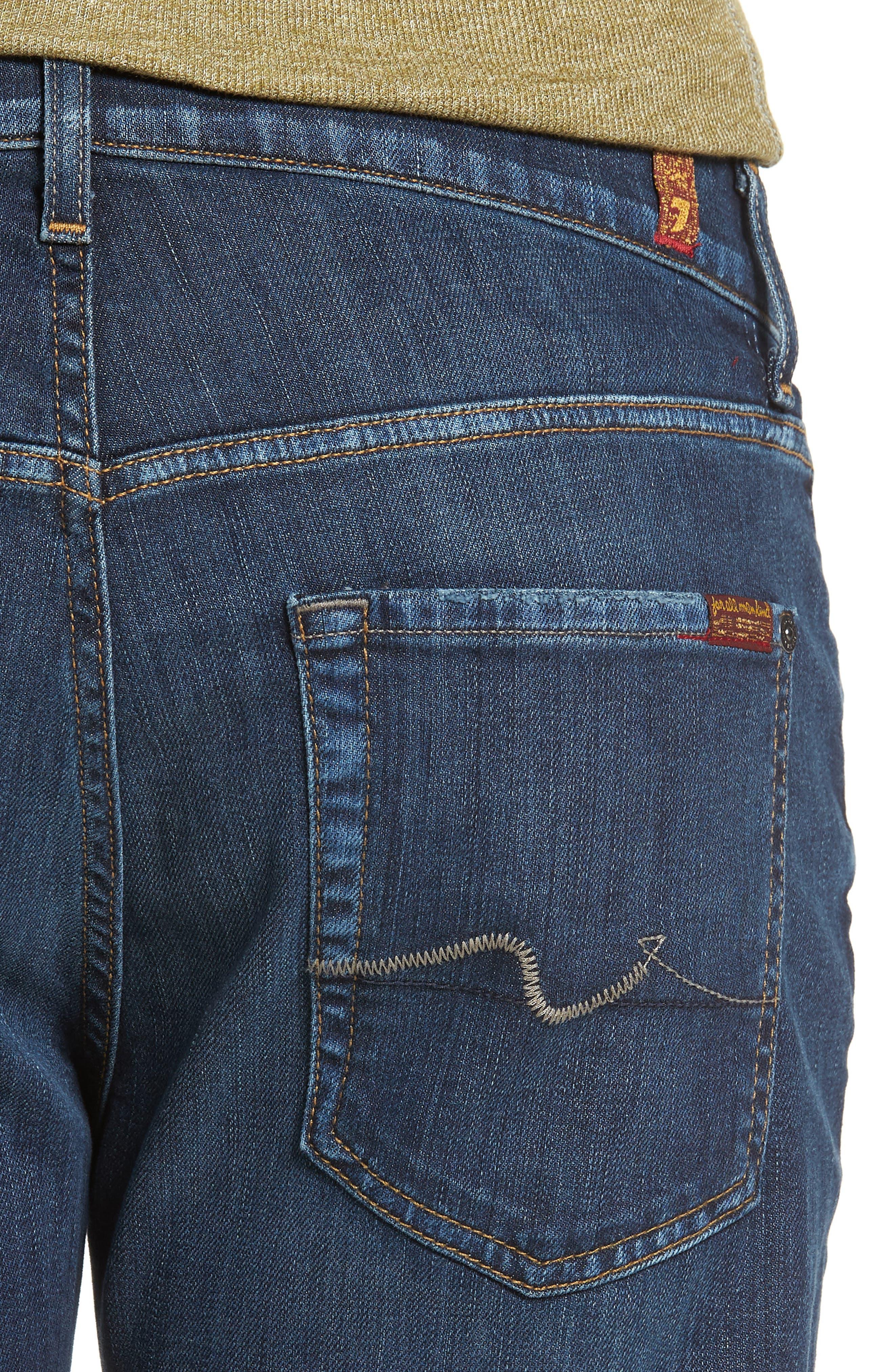 Luxe Standard Straight Leg Jeans,                             Alternate thumbnail 4, color,                             Desperado