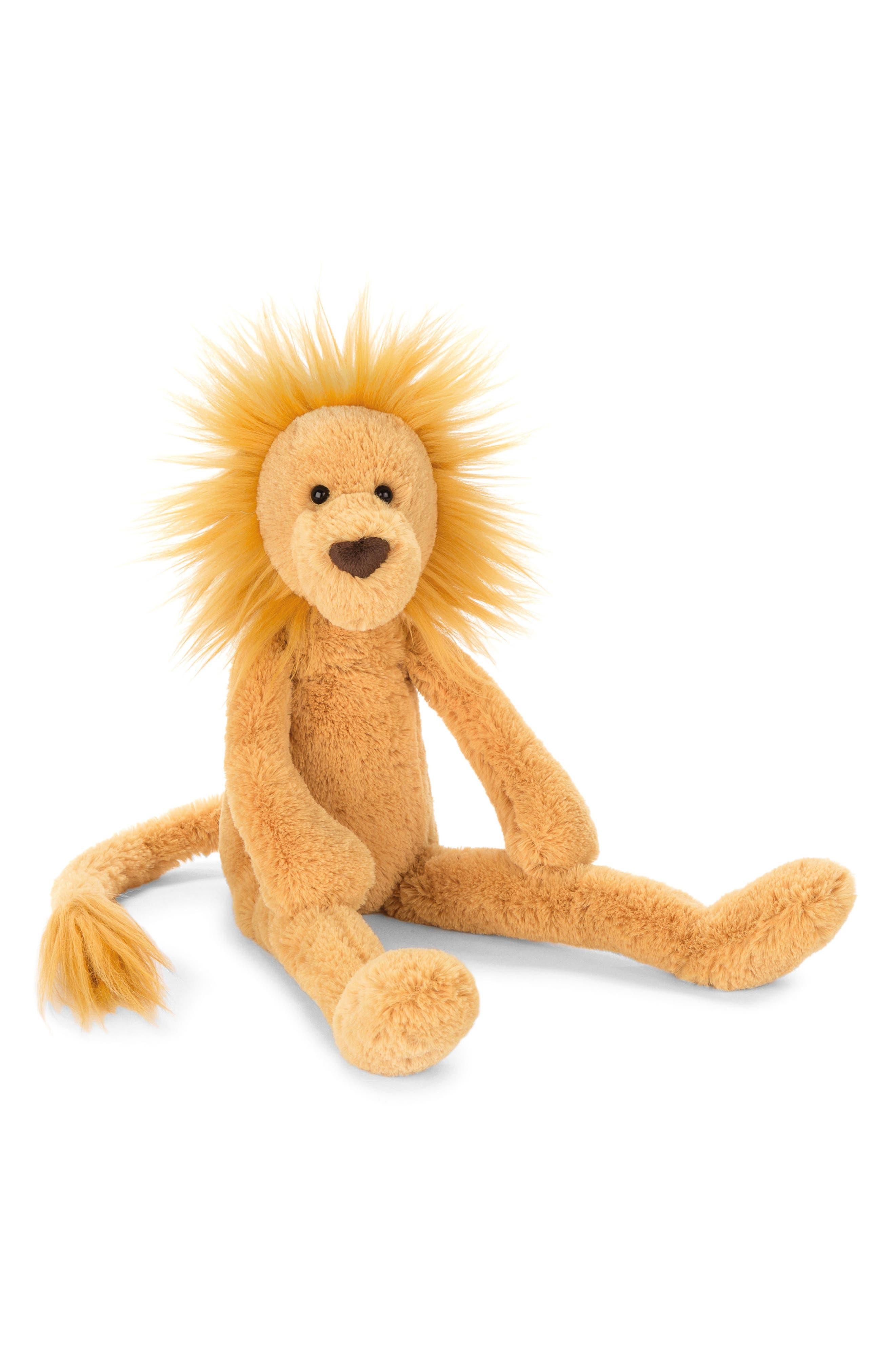 Pitterpat Lion Stuffed Animal,                             Main thumbnail 1, color,                             Yellow