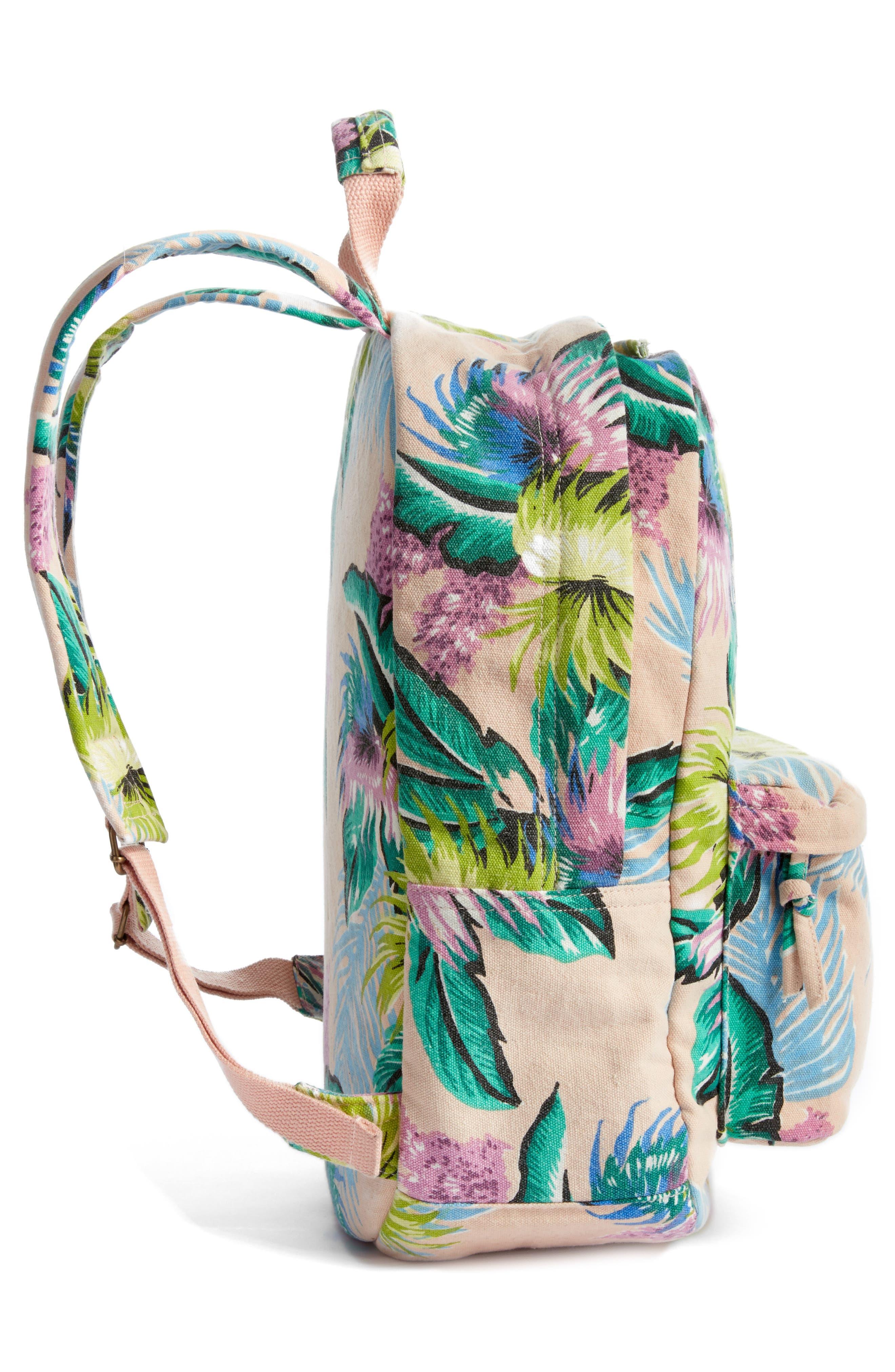Ophelia Canvas Backpack,                             Alternate thumbnail 5, color,                             Vanilla