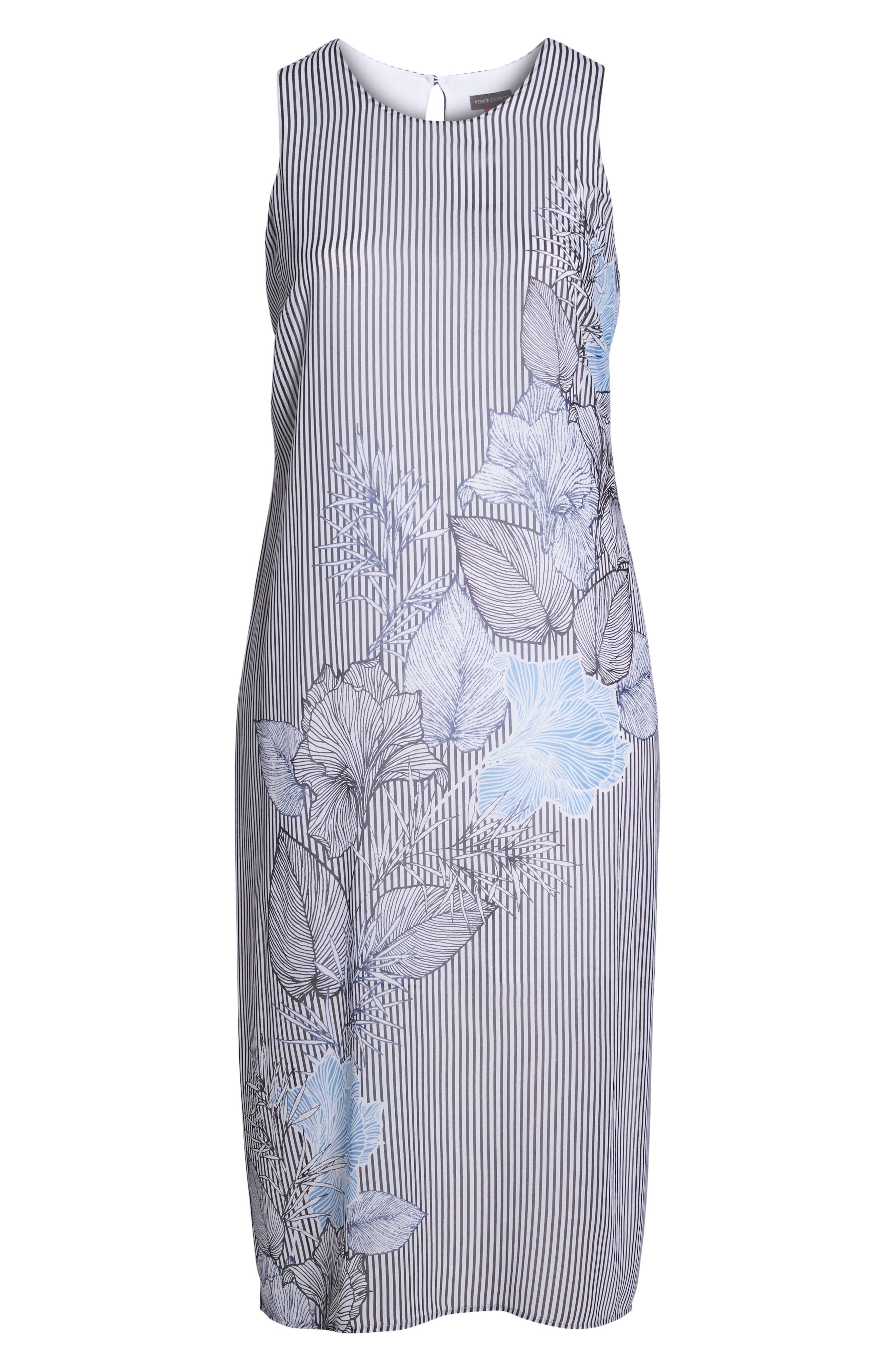 Island Floral Chiffon Maxi Dress,                             Alternate thumbnail 7, color,                             Rich Black