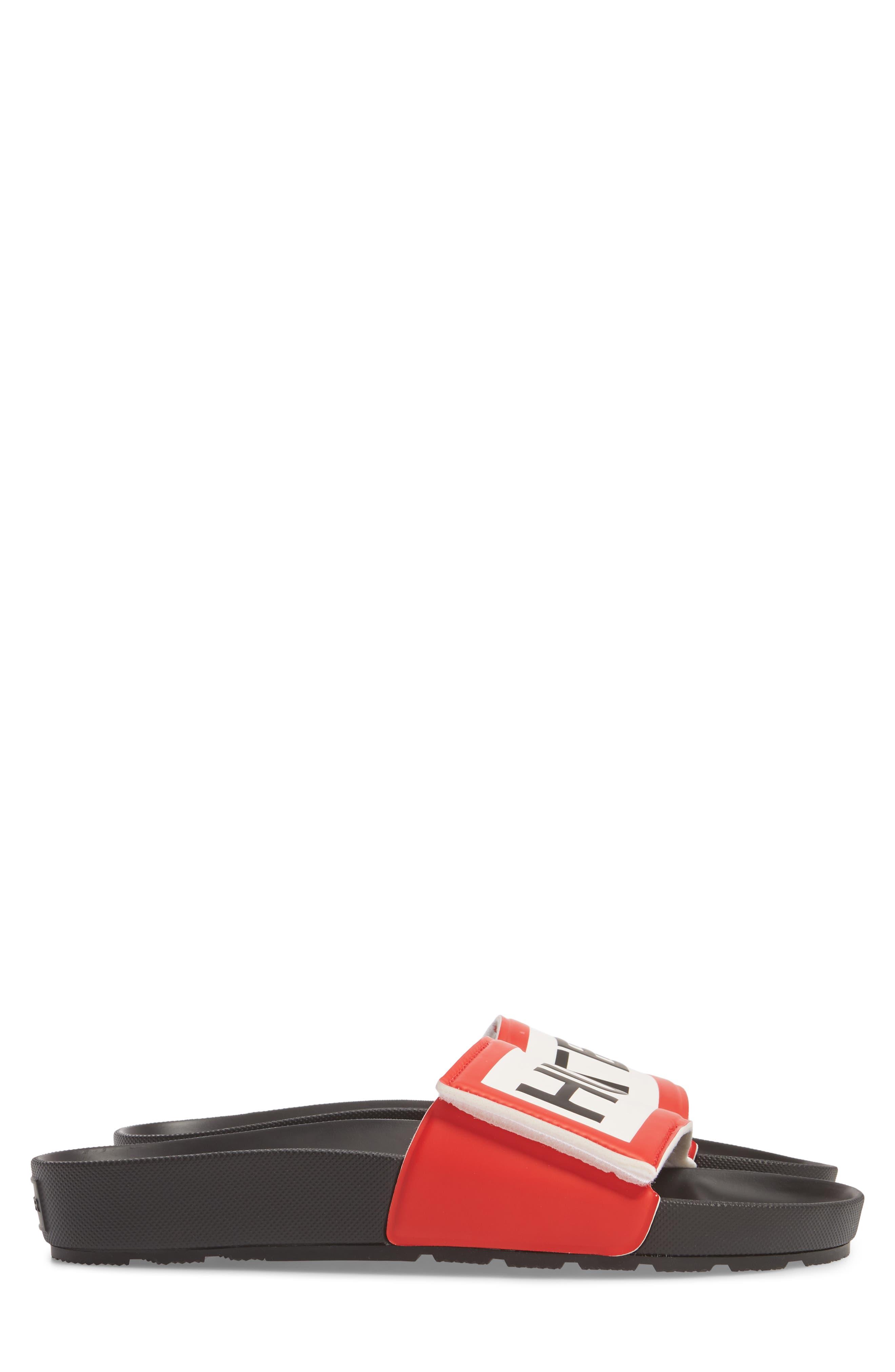 Original Adjustable Logo Slide Sandal,                             Alternate thumbnail 4, color,                             Black