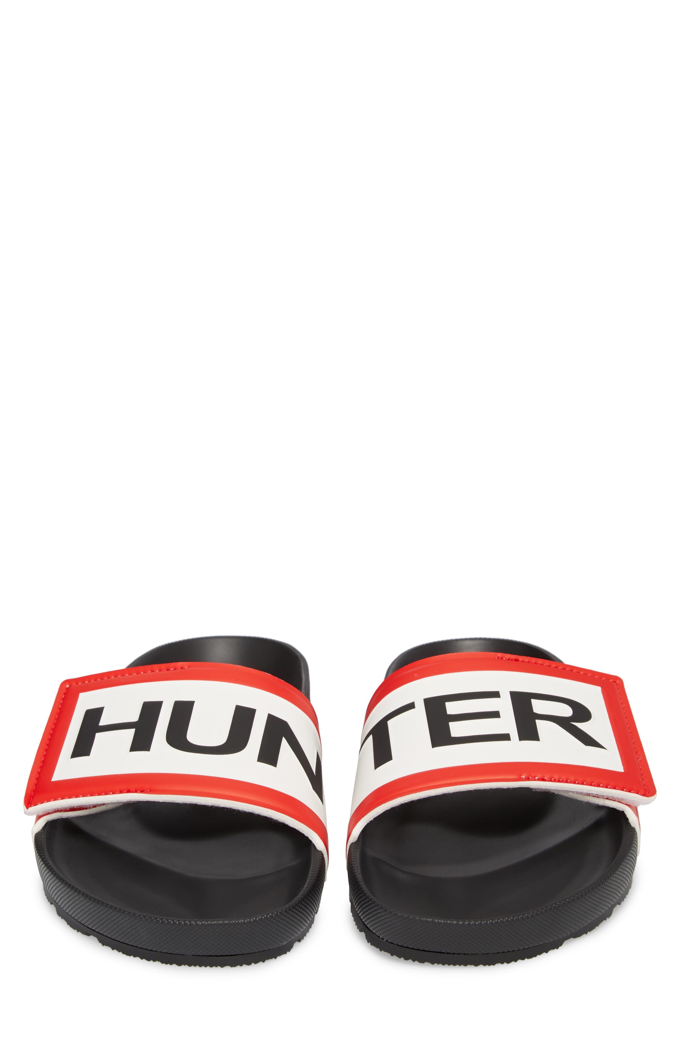 Original Adjustable Logo Slide Sandal,                             Alternate thumbnail 5, color,                             Black
