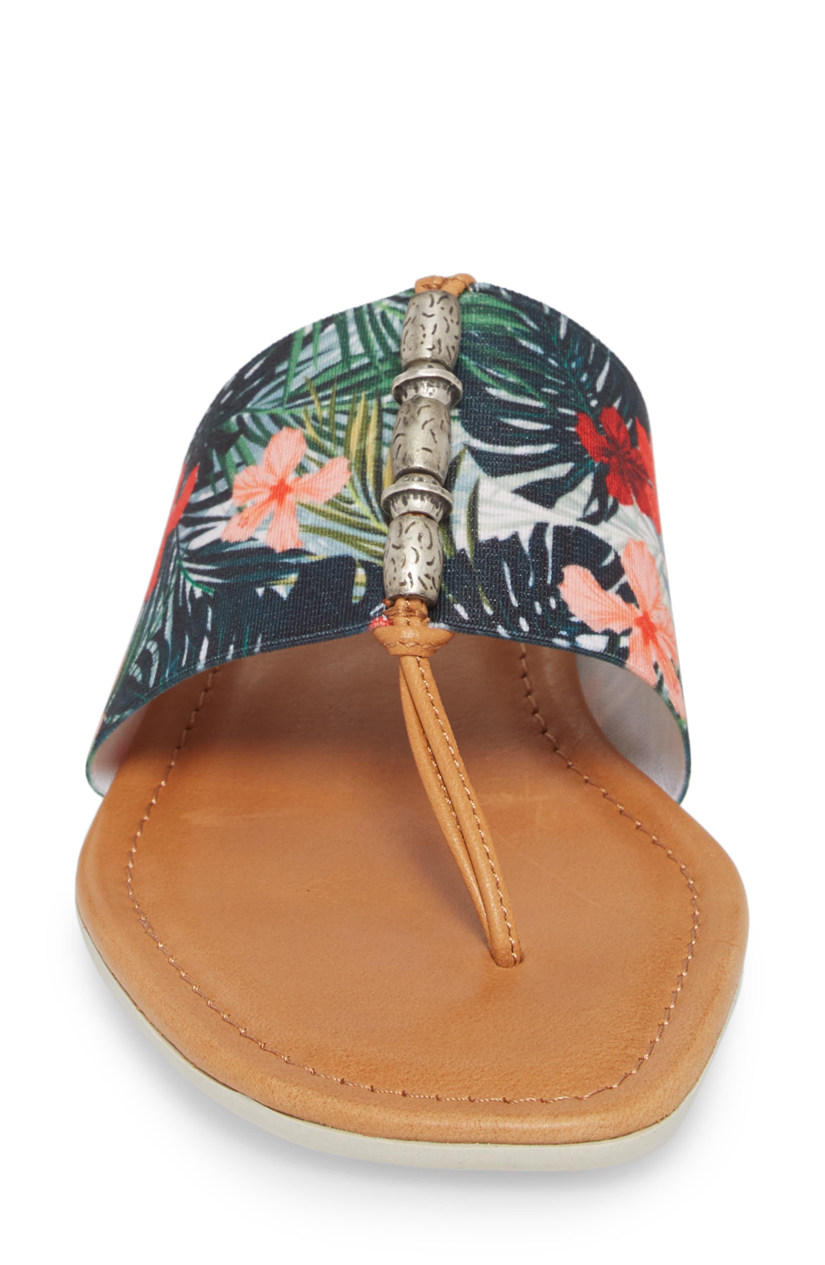 Rain Maker Sandal,                             Alternate thumbnail 4, color,                             Cognac Tropical Leather