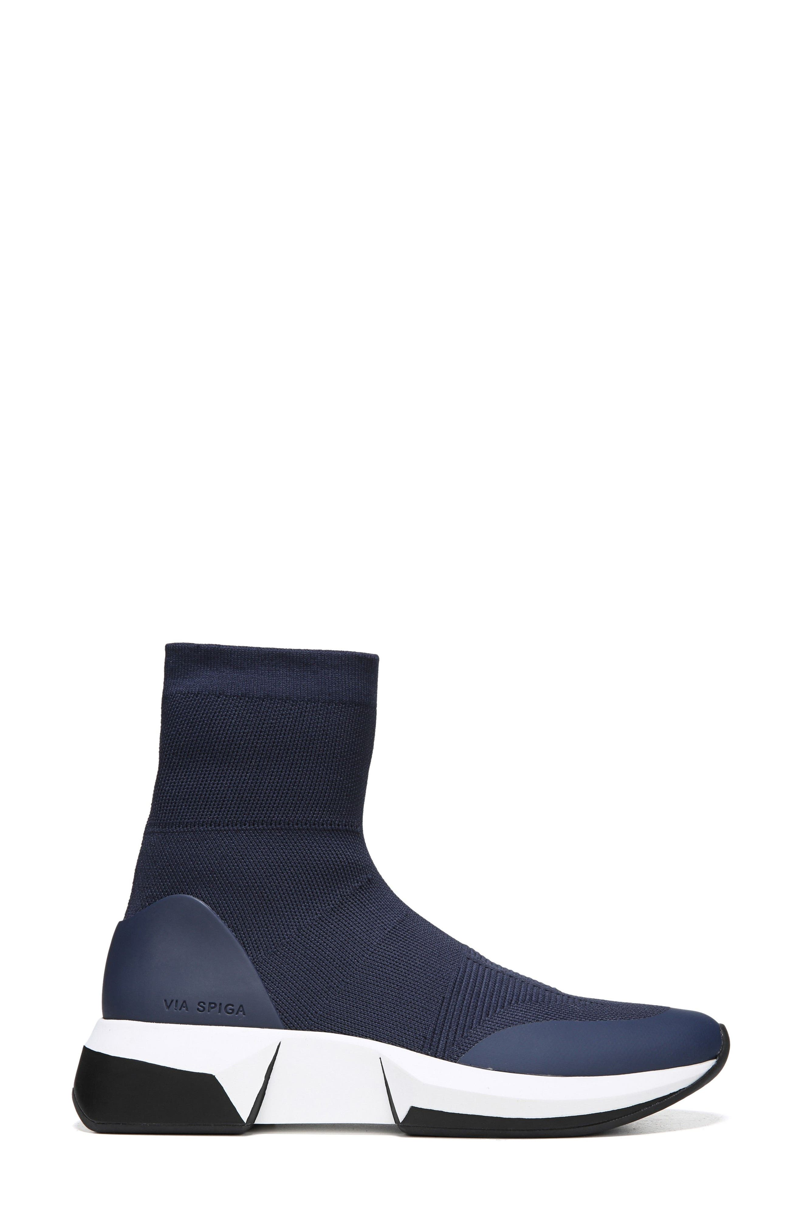 Verion High Top Sock Sneaker,                             Alternate thumbnail 5, color,                             Sapphire Fabric