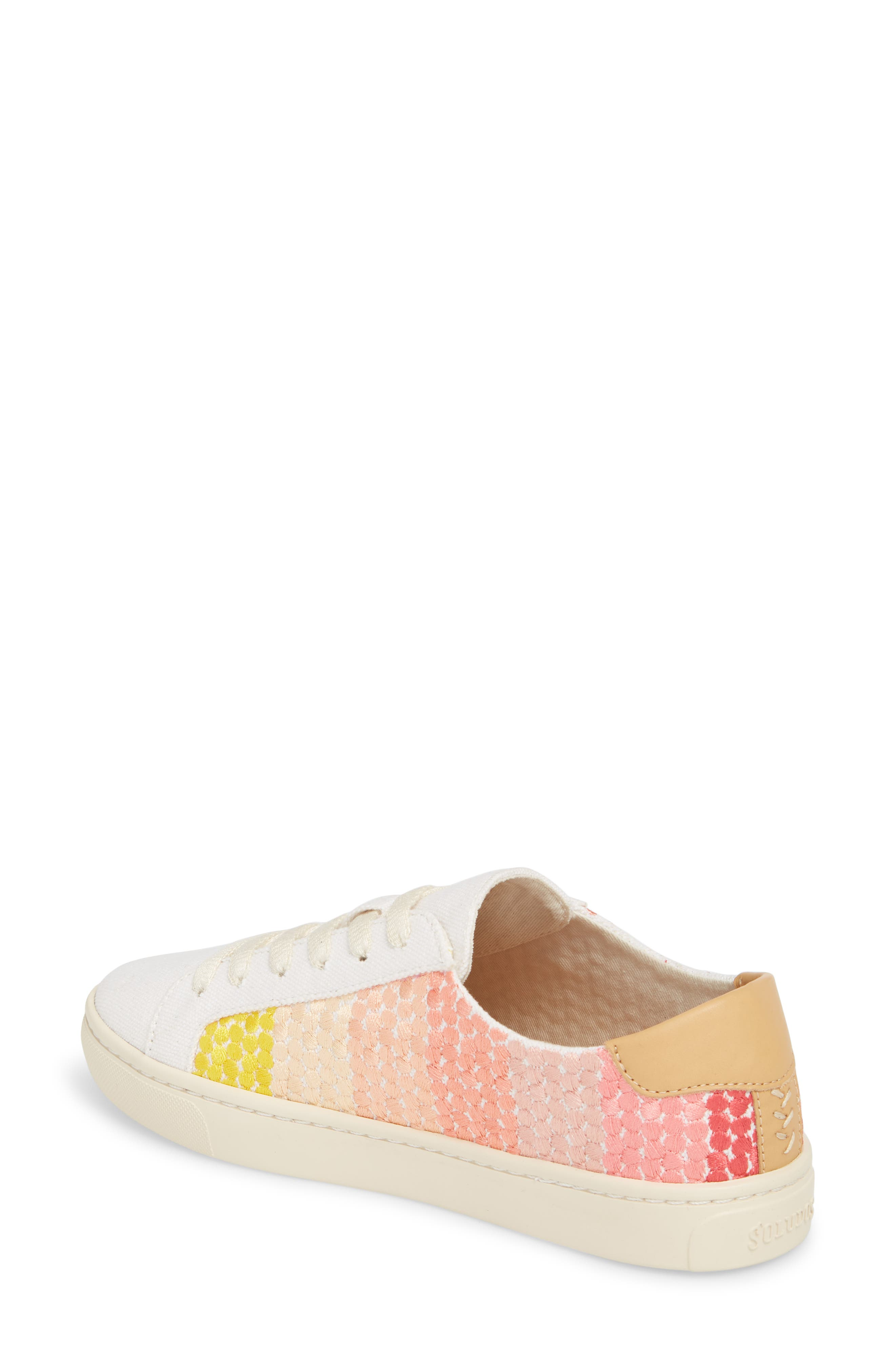 Embroidered Ombre Sneaker,                             Alternate thumbnail 2, color,                             Sunshine