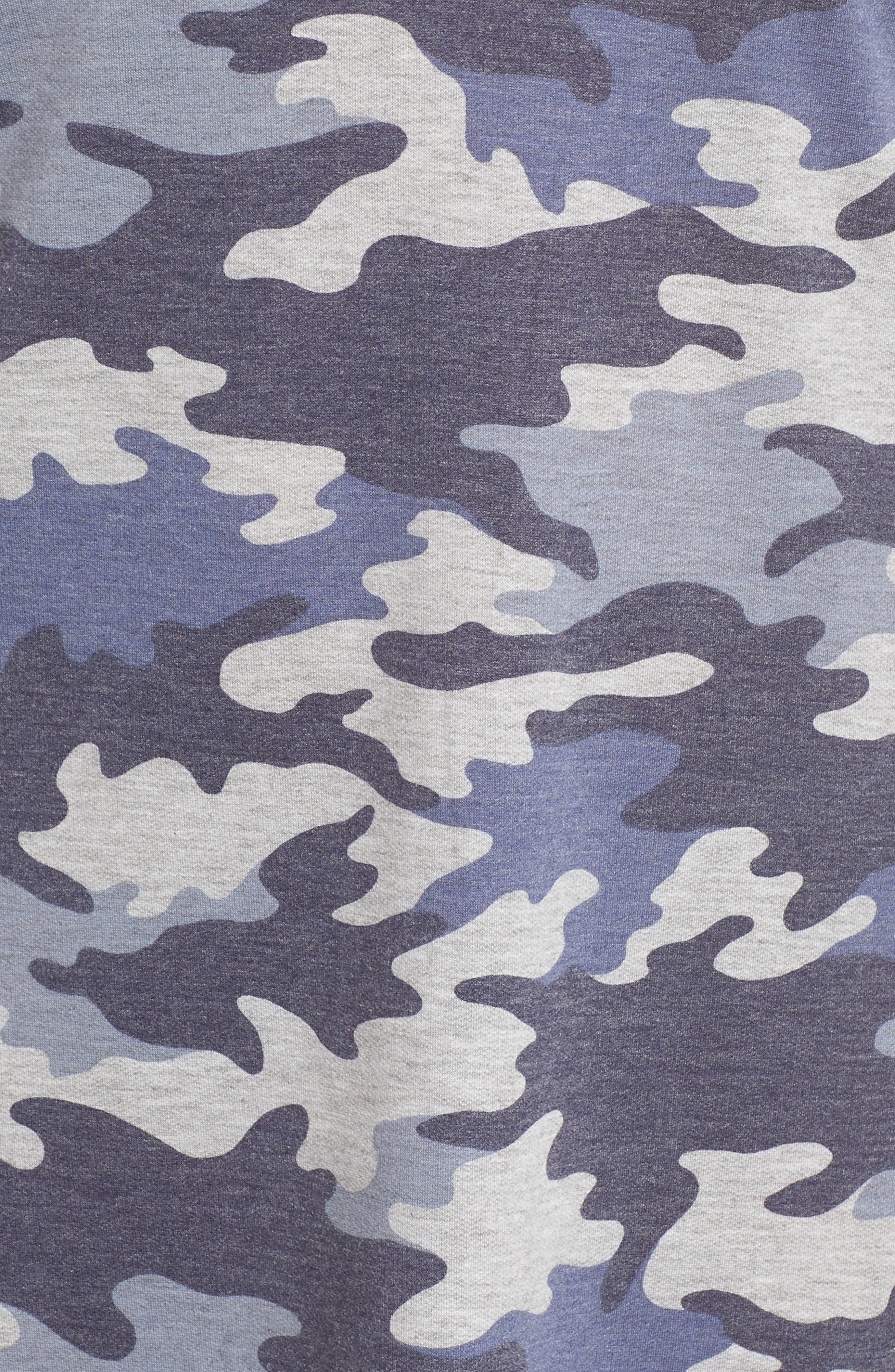 Camo T-Shirt Dress,                             Alternate thumbnail 3, color,                             Blue Camo