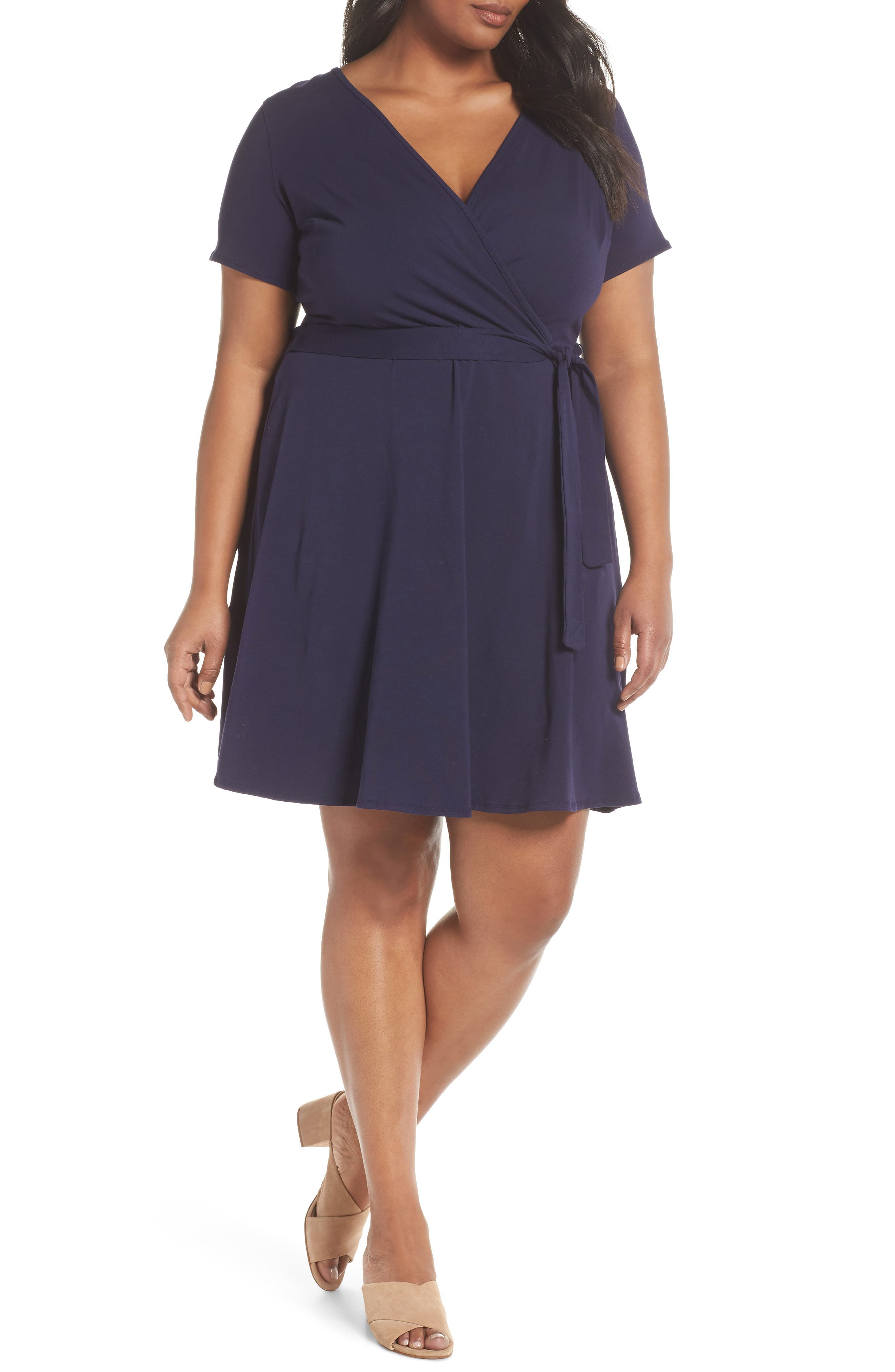 Dorothy Perkins Fit & Flare Wrap Dress (Plus Size)