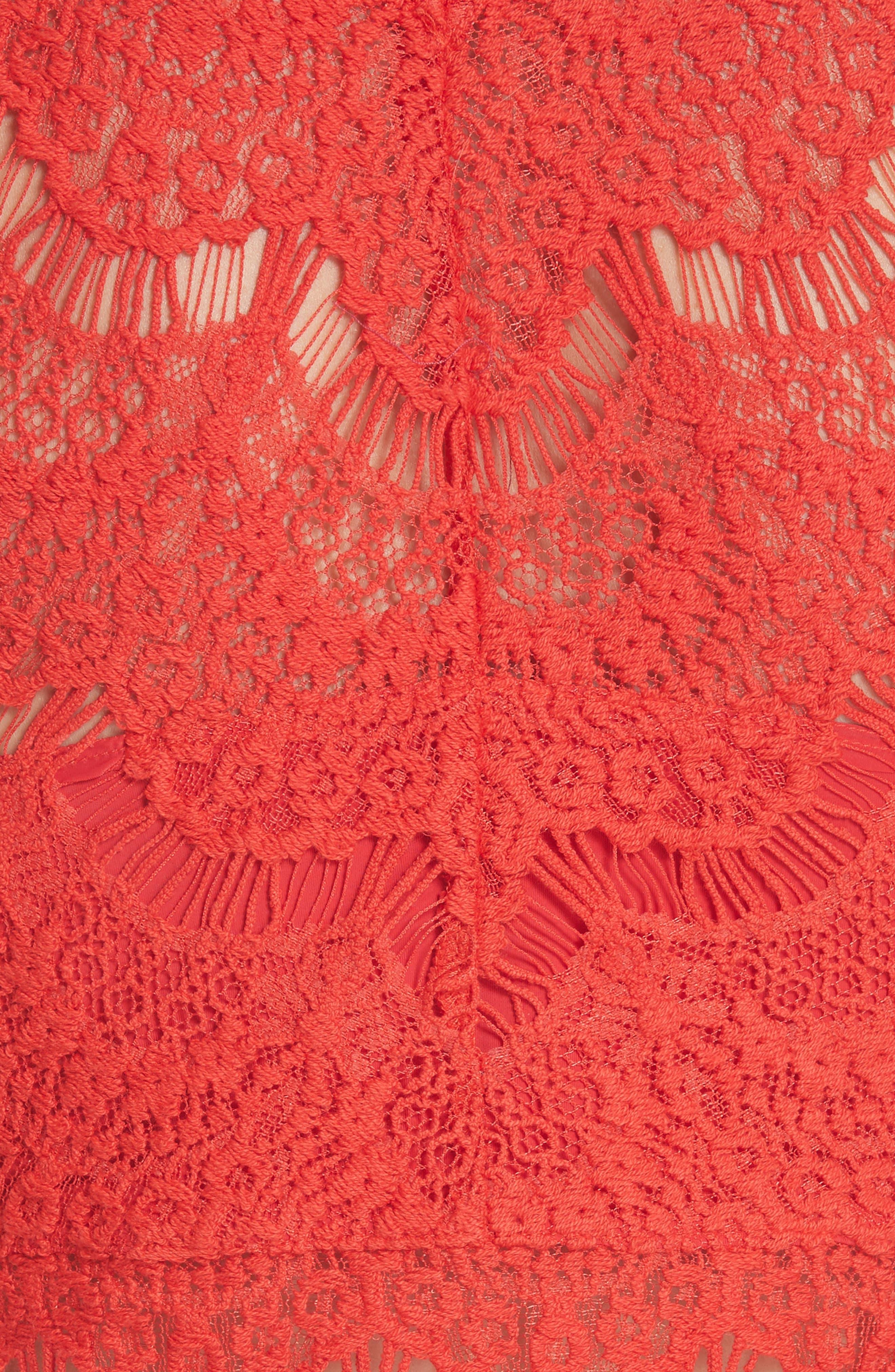Sabina Crop Top & Skirt,                             Alternate thumbnail 5, color,                             Red