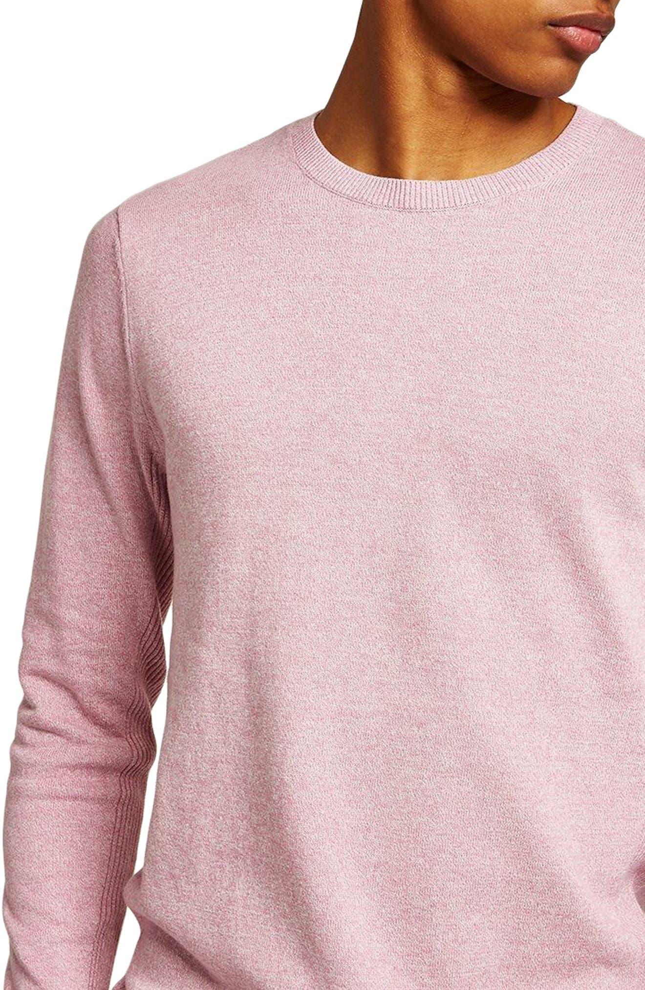 Side Rib Cotton Sweater,                         Main,                         color, Purple