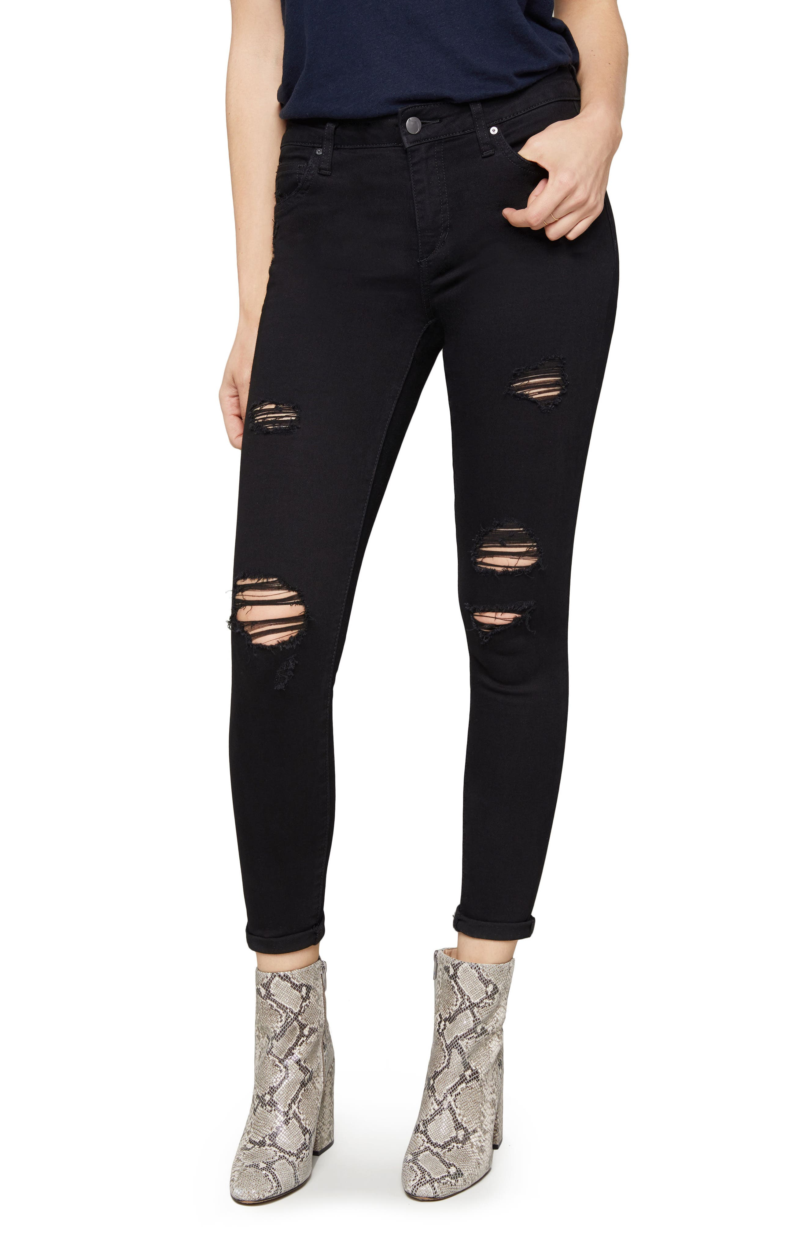 Icon Crop Ripped Skinny Jeans,                         Main,                         color, Lilliana
