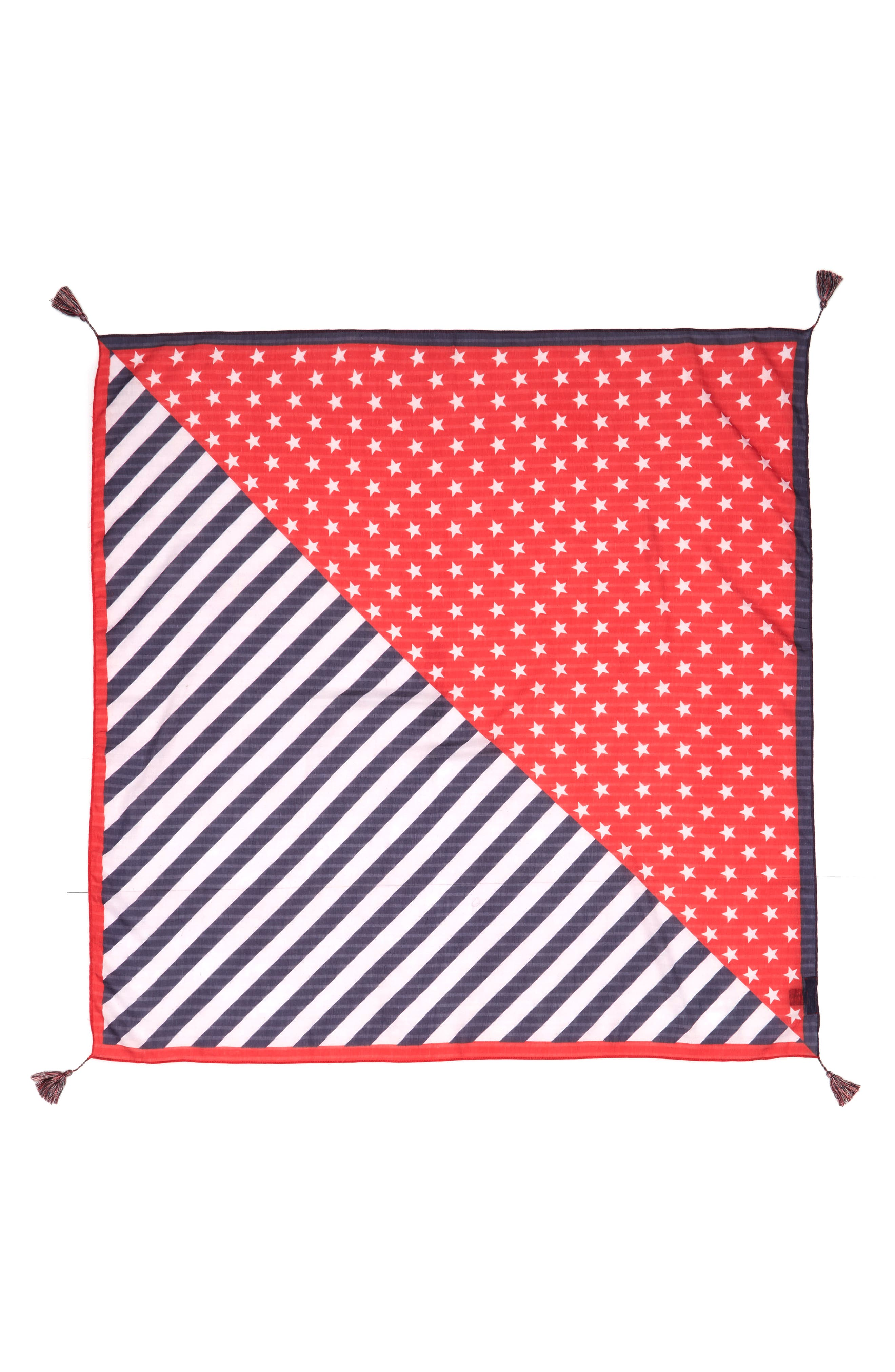 American Flag Square Scarf,                             Alternate thumbnail 2, color,                             Navy/ Red
