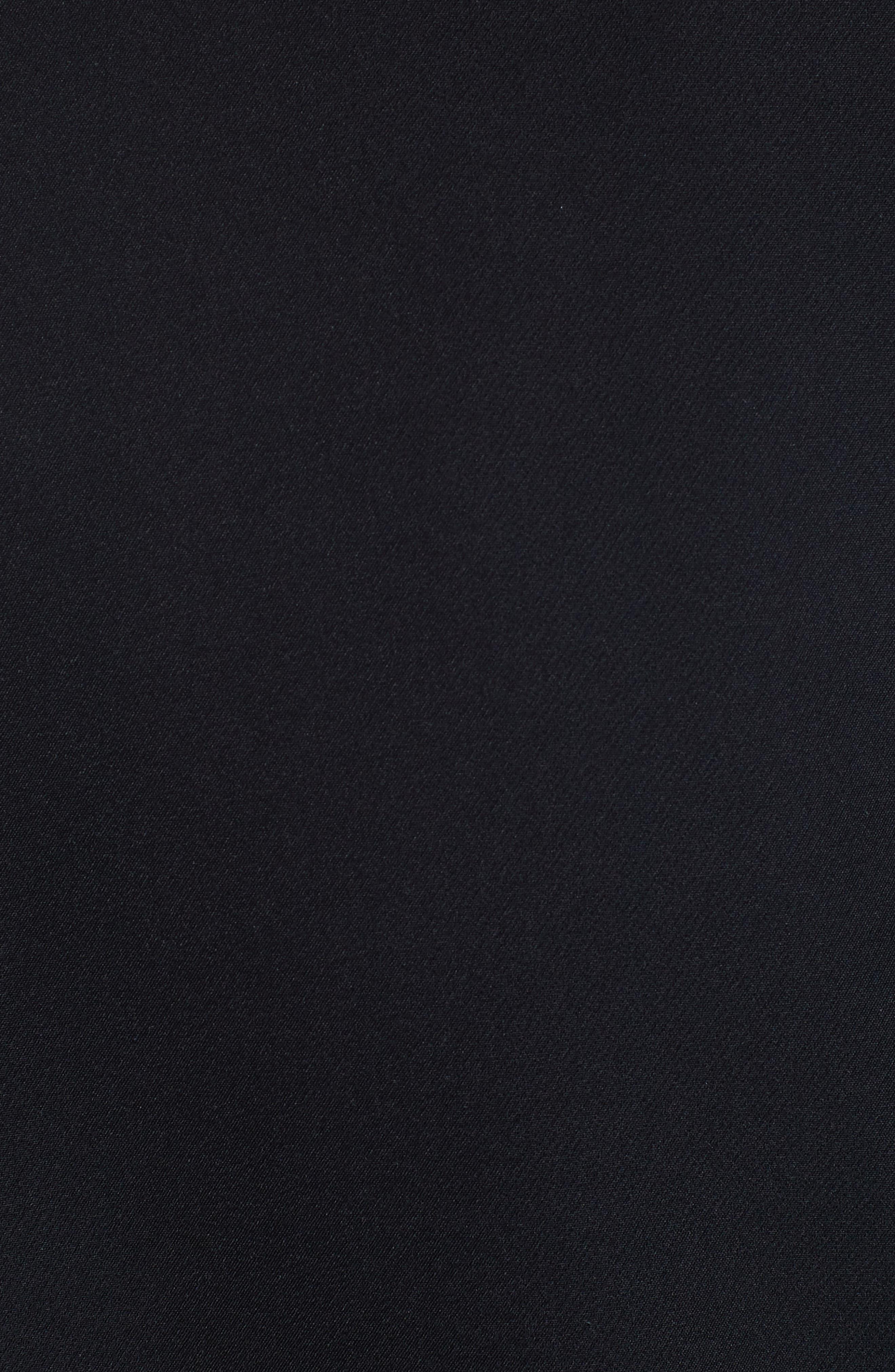 Liela Sheer Lace Panel Jacket,                             Alternate thumbnail 5, color,                             Black