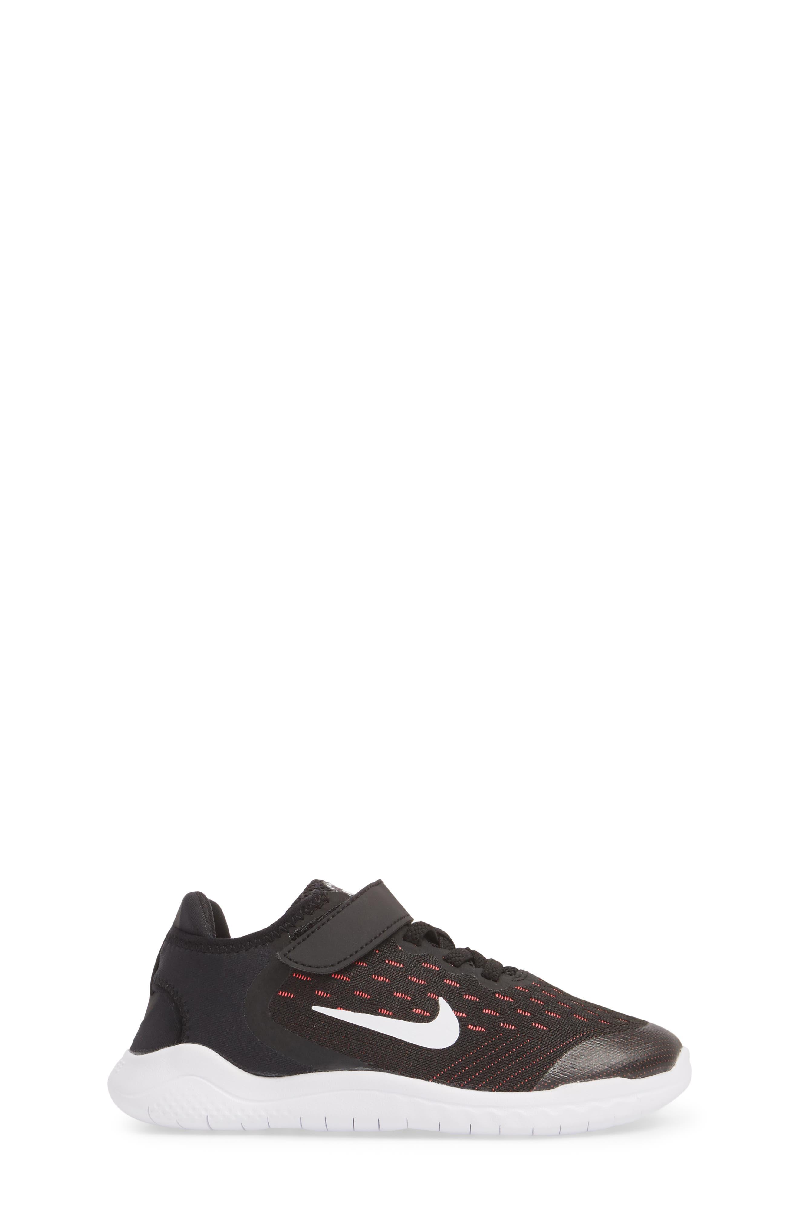 Free RN Running Shoe,                             Alternate thumbnail 3, color,                             Black/ White/ Pink/ Volt