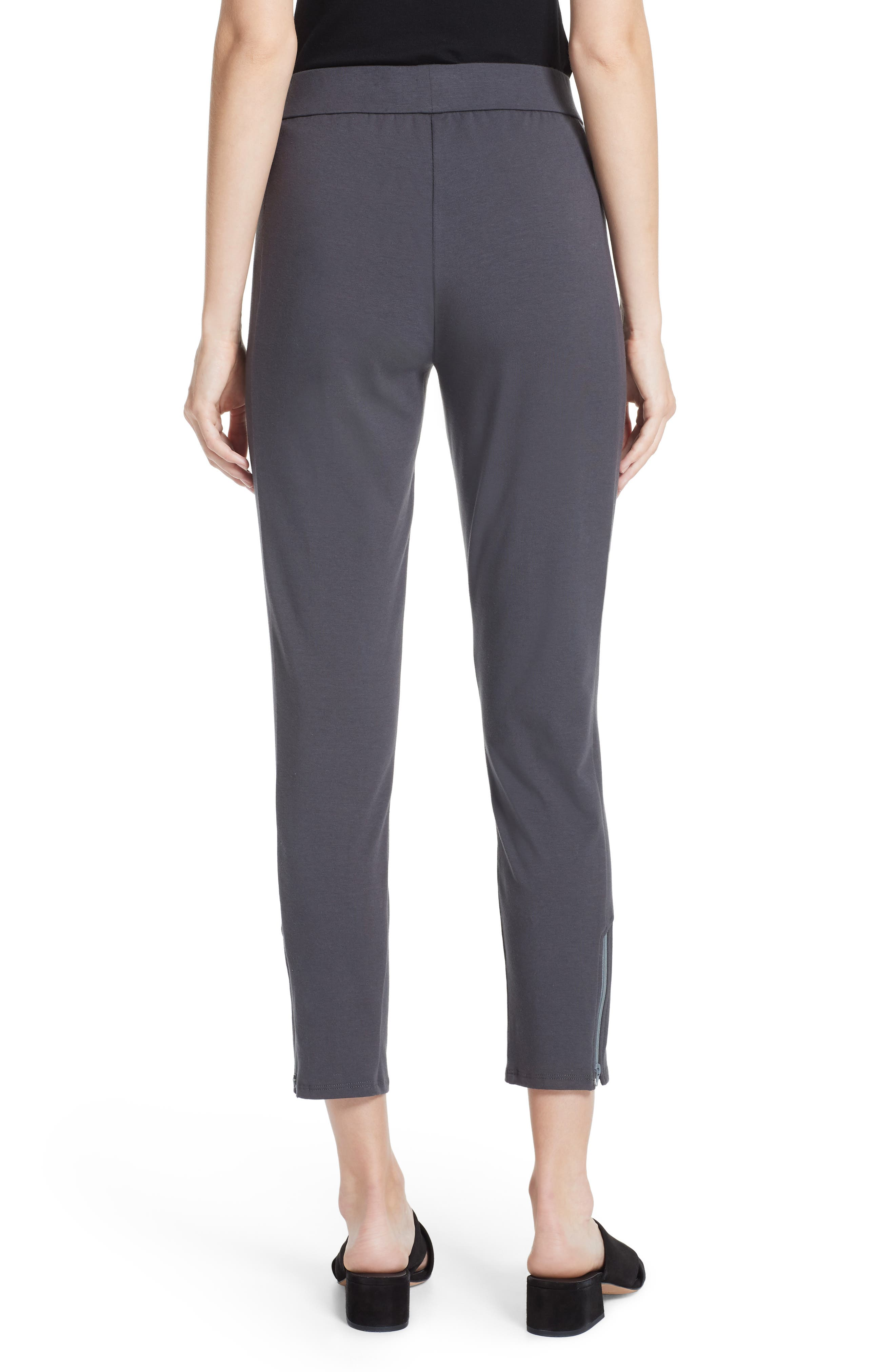 Slim Stretch Cotton Pants,                             Alternate thumbnail 2, color,                             Graphite