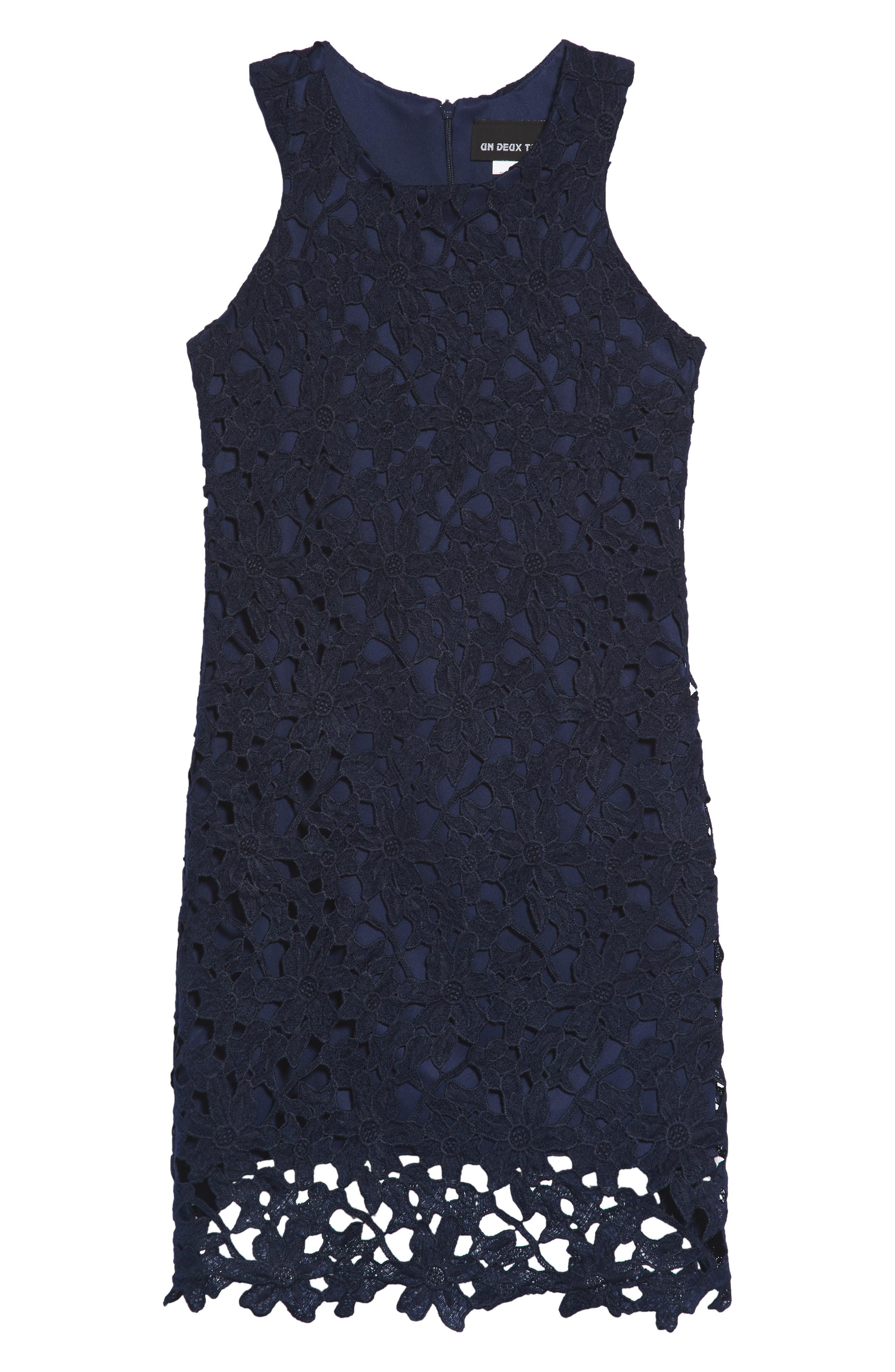 Un Duex Trois Floral Lace Dress (Big Girls)