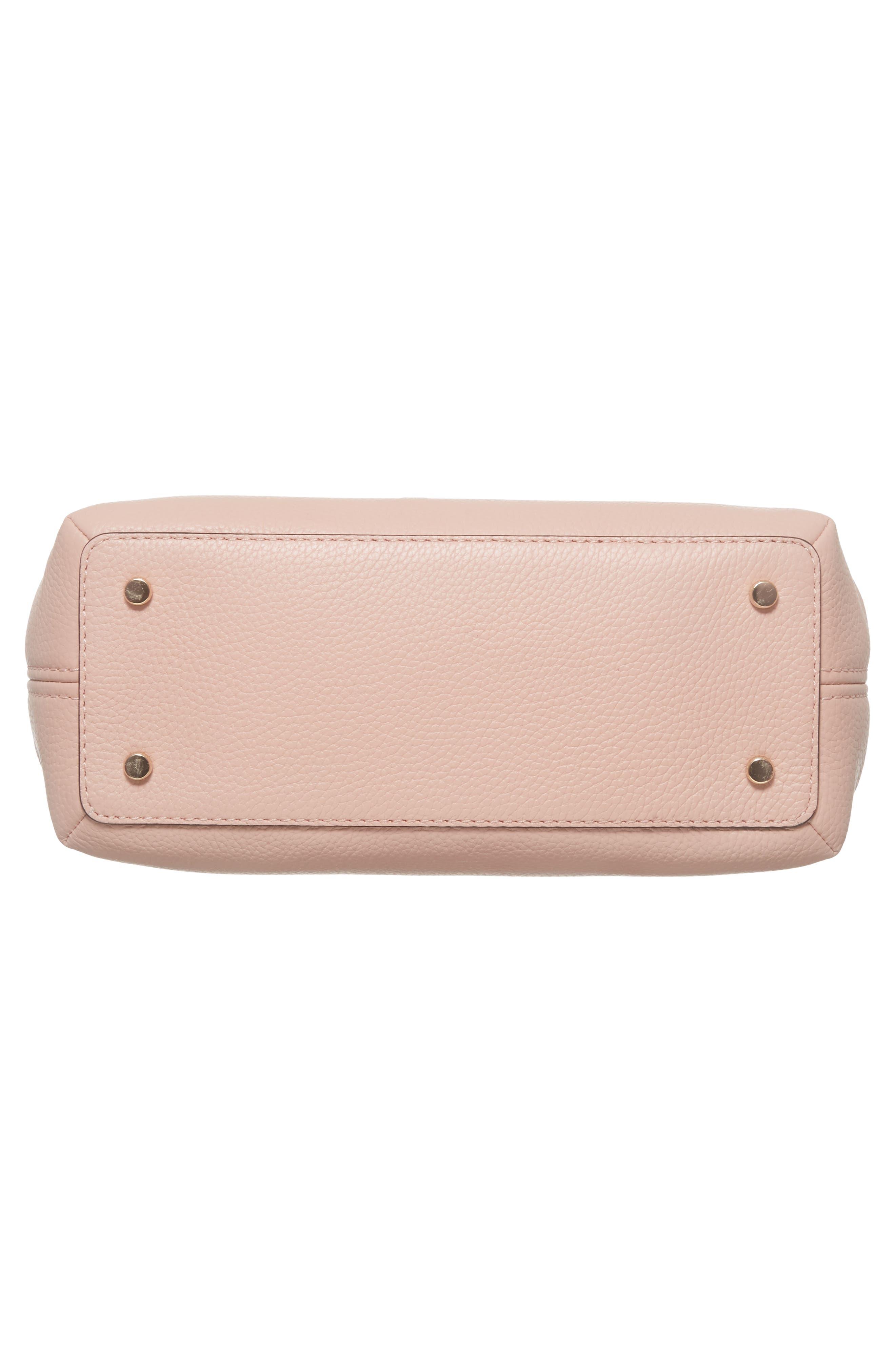 jackson street – small octavia leather satchel,                             Alternate thumbnail 6, color,                             Rosy Cheeks