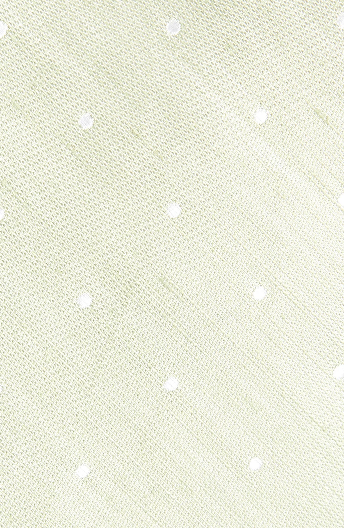 Bulletin Dot Silk & Linen Tie,                             Alternate thumbnail 2, color,                             Sage Green