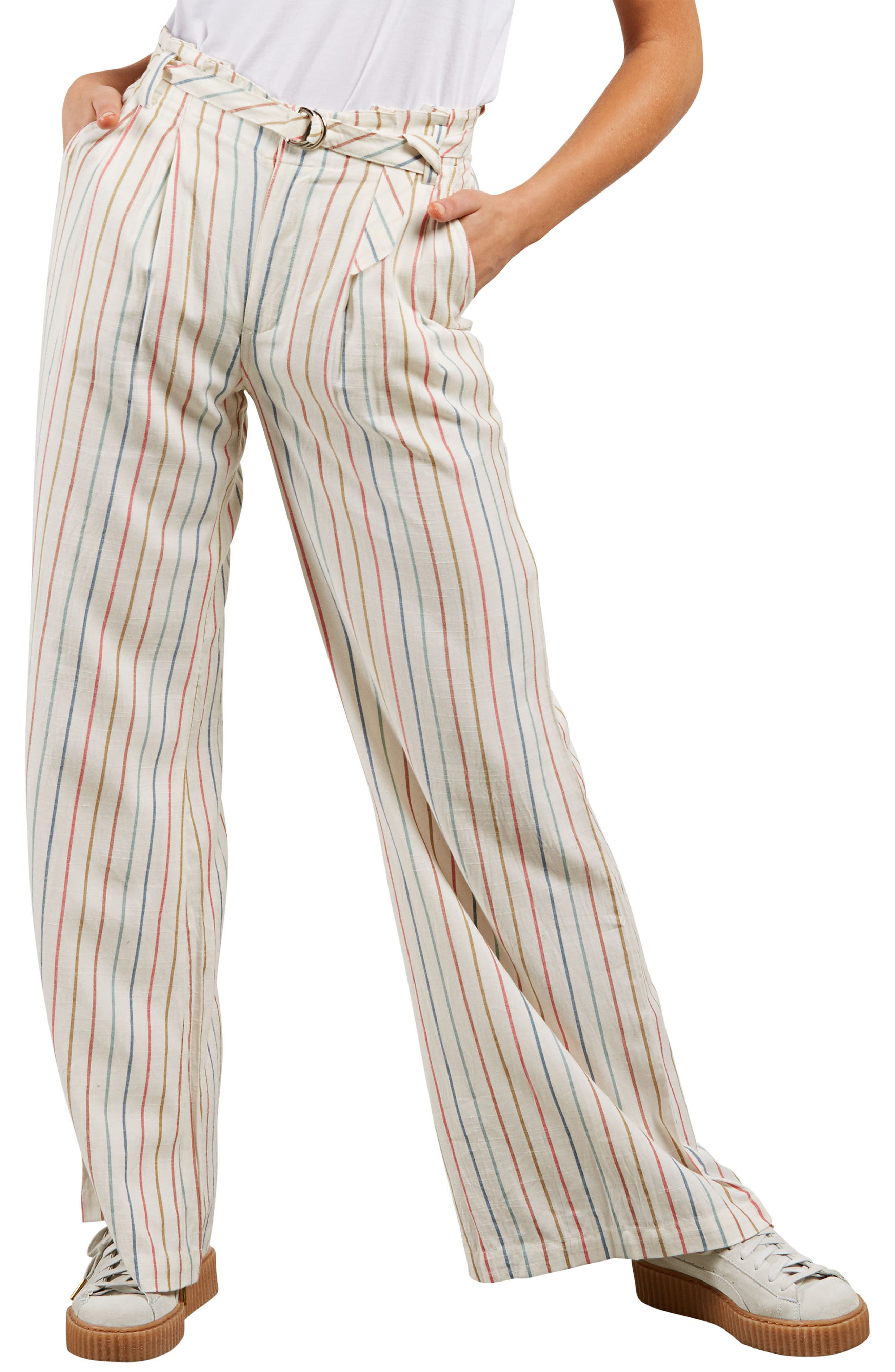Need Now Stripe Trousers,                             Main thumbnail 1, color,                             Multi