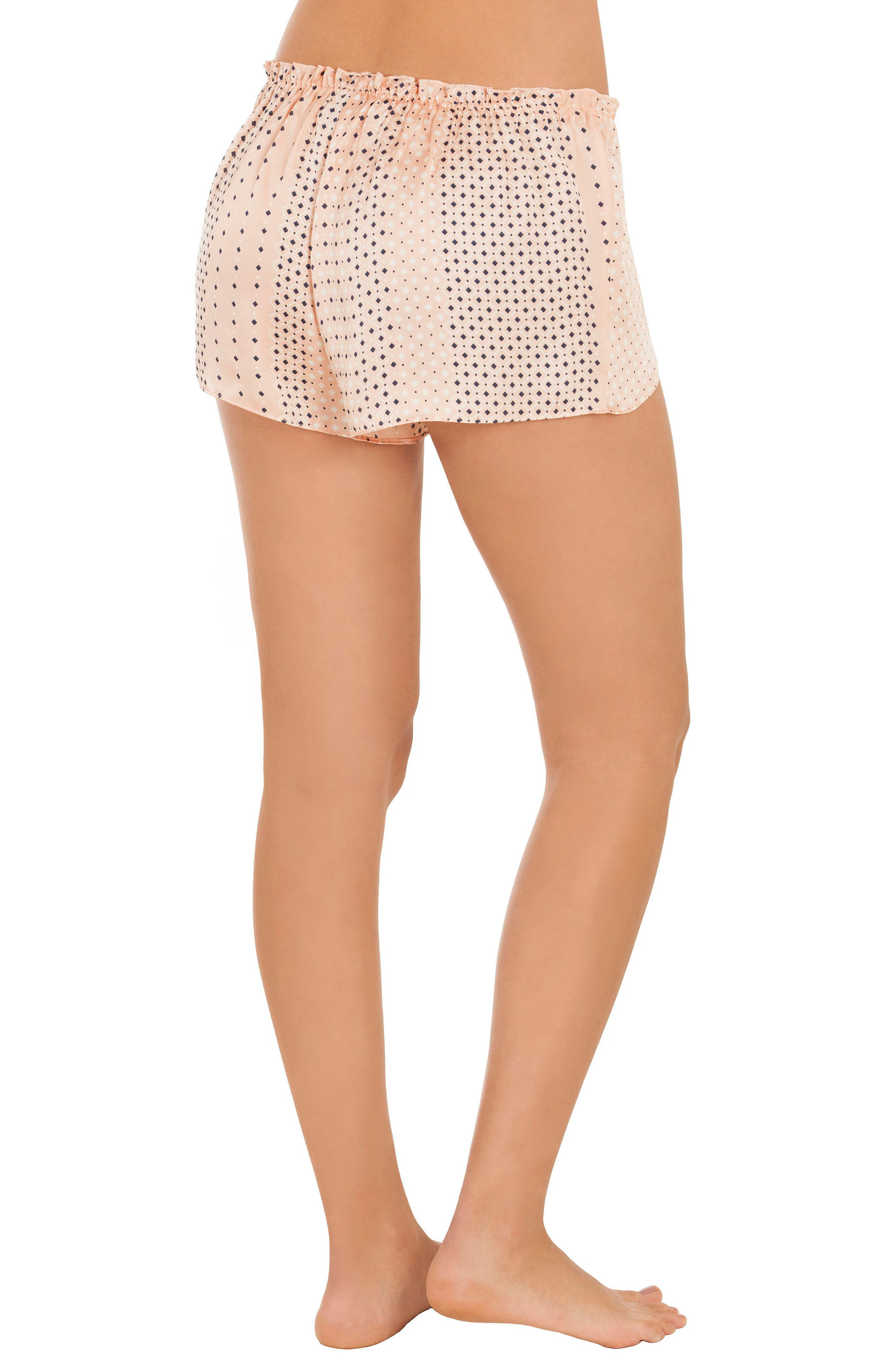 Stripe Pajama Shorts,                             Alternate thumbnail 2, color,                             Coral Geo