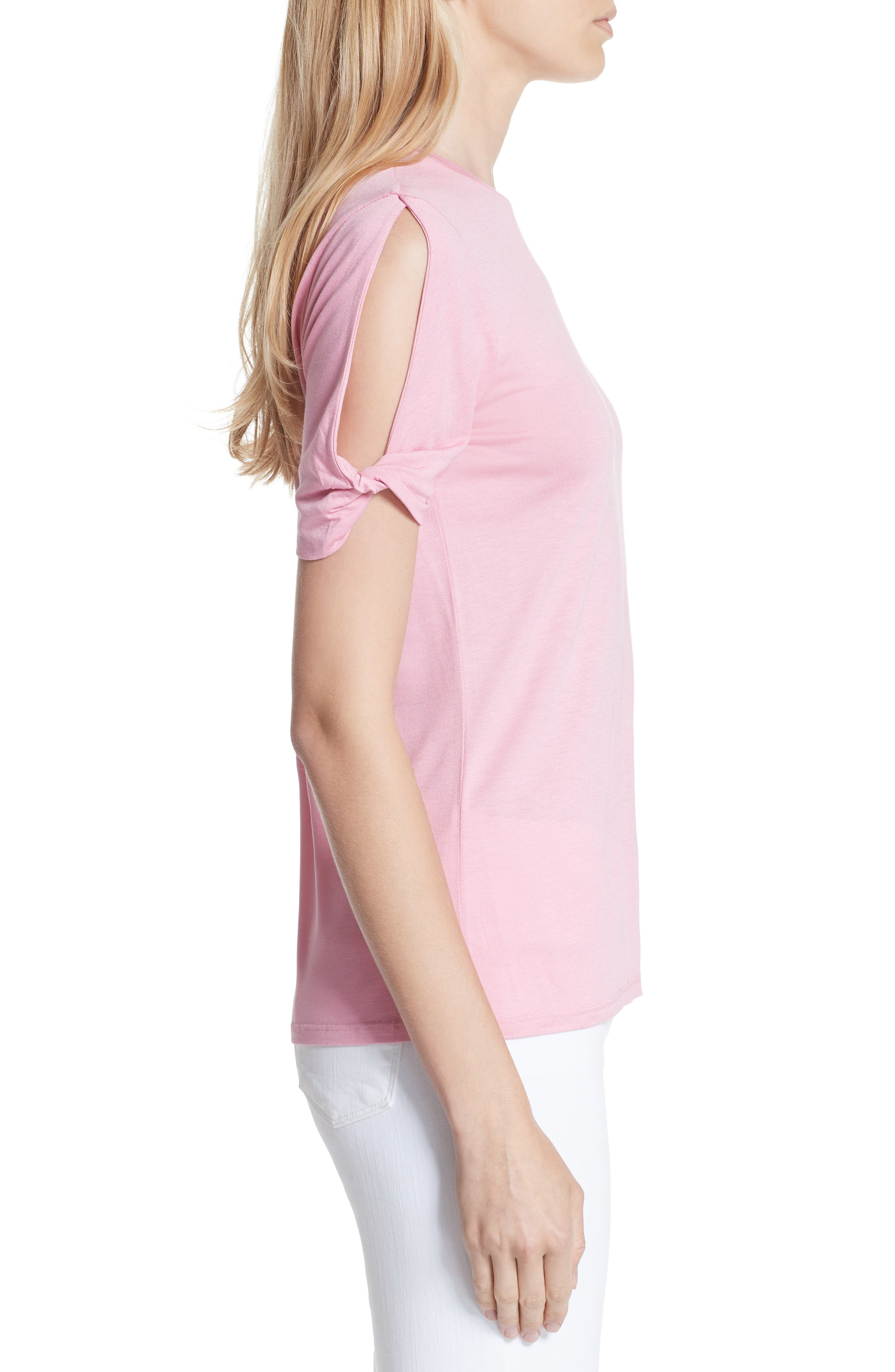 Narva Colour by Numbers Twist Cuff Shirt,                             Alternate thumbnail 3, color,                             Pink