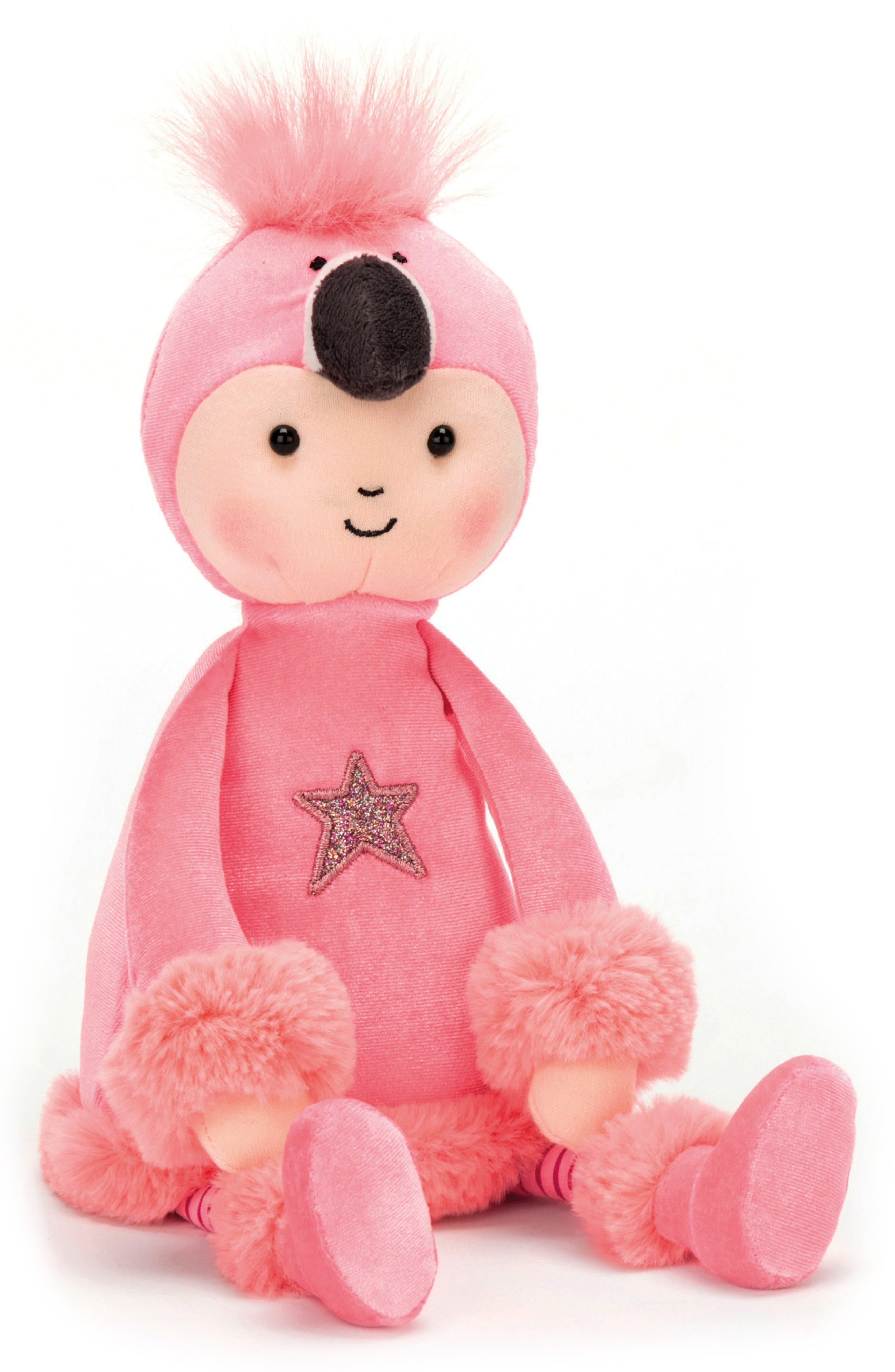 Perkies Flamingo Flapper Stuffed Doll,                             Main thumbnail 1, color,                             Pink