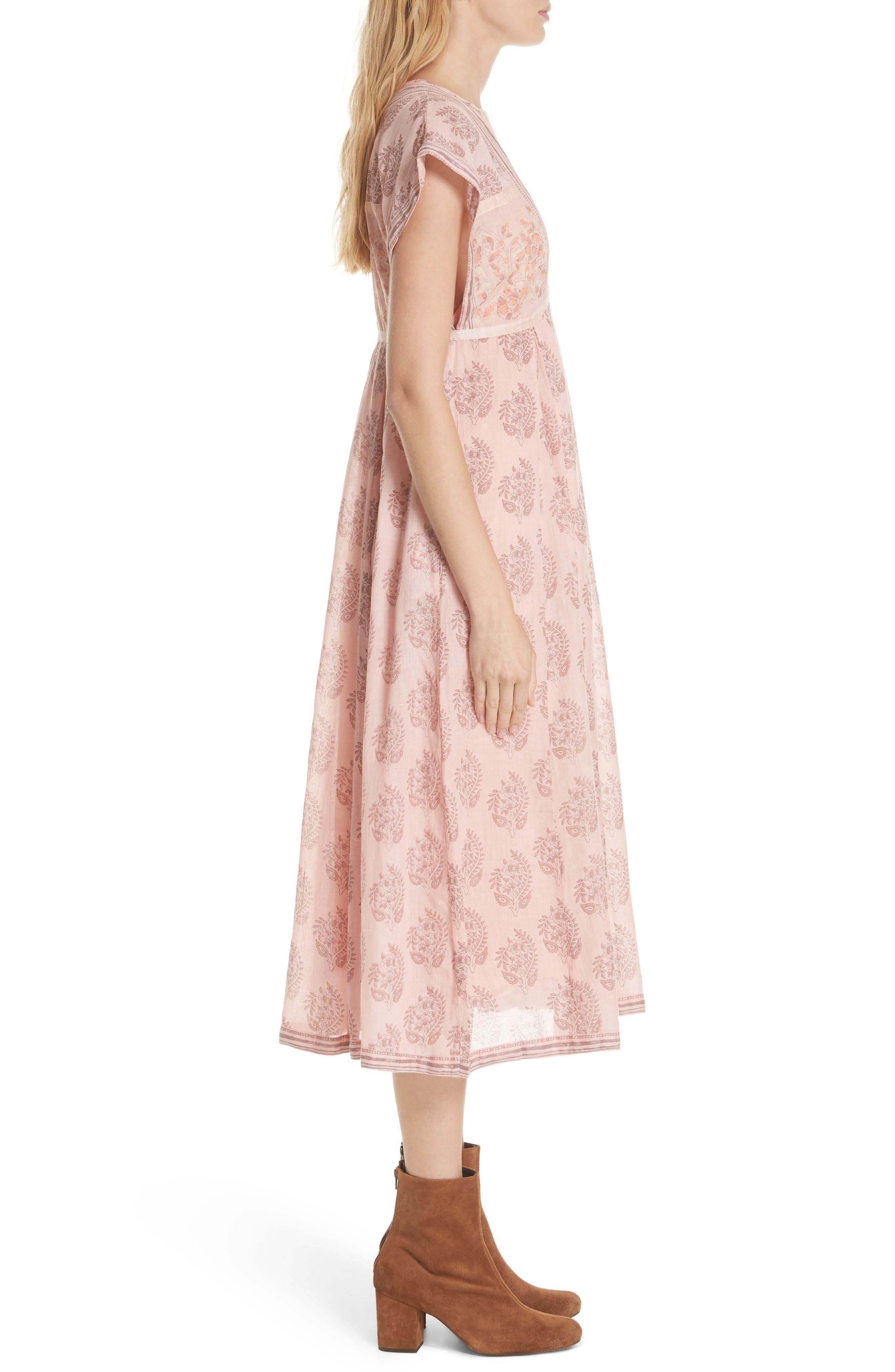 Riakaa Dress,                             Alternate thumbnail 3, color,                             Pink