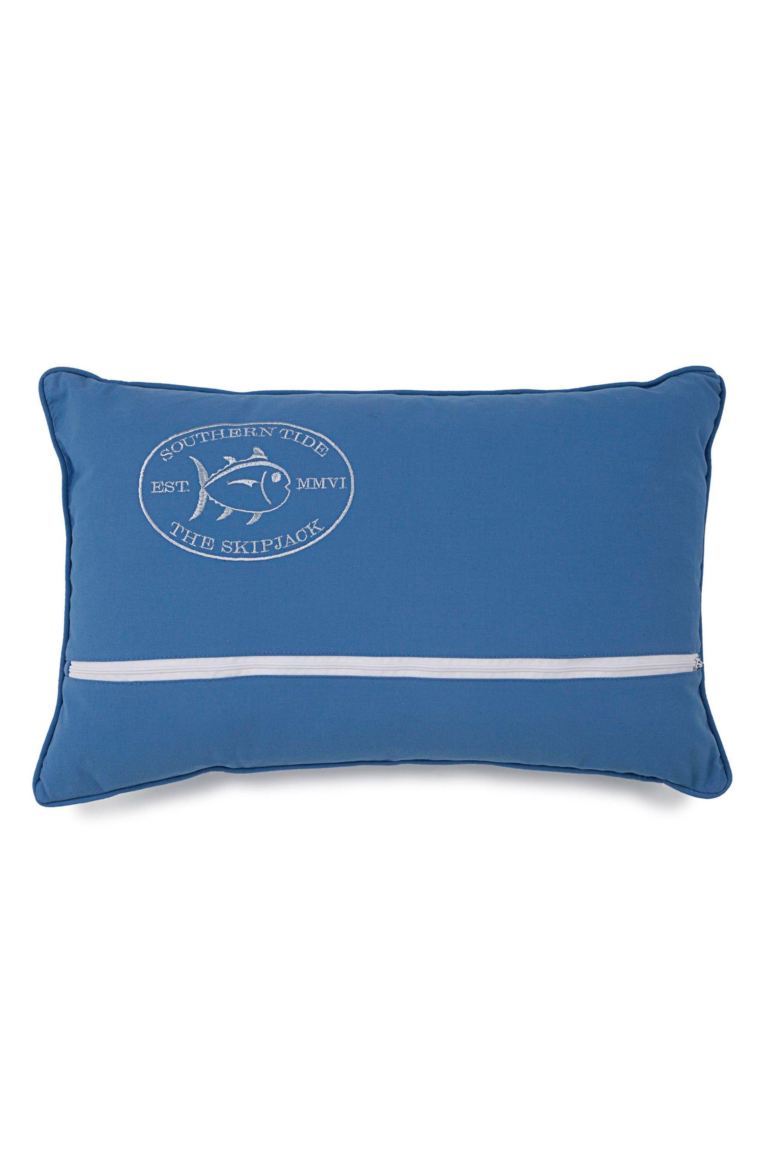 Skipper Stripe Accent Pillow,                             Main thumbnail 1, color,                             Blue
