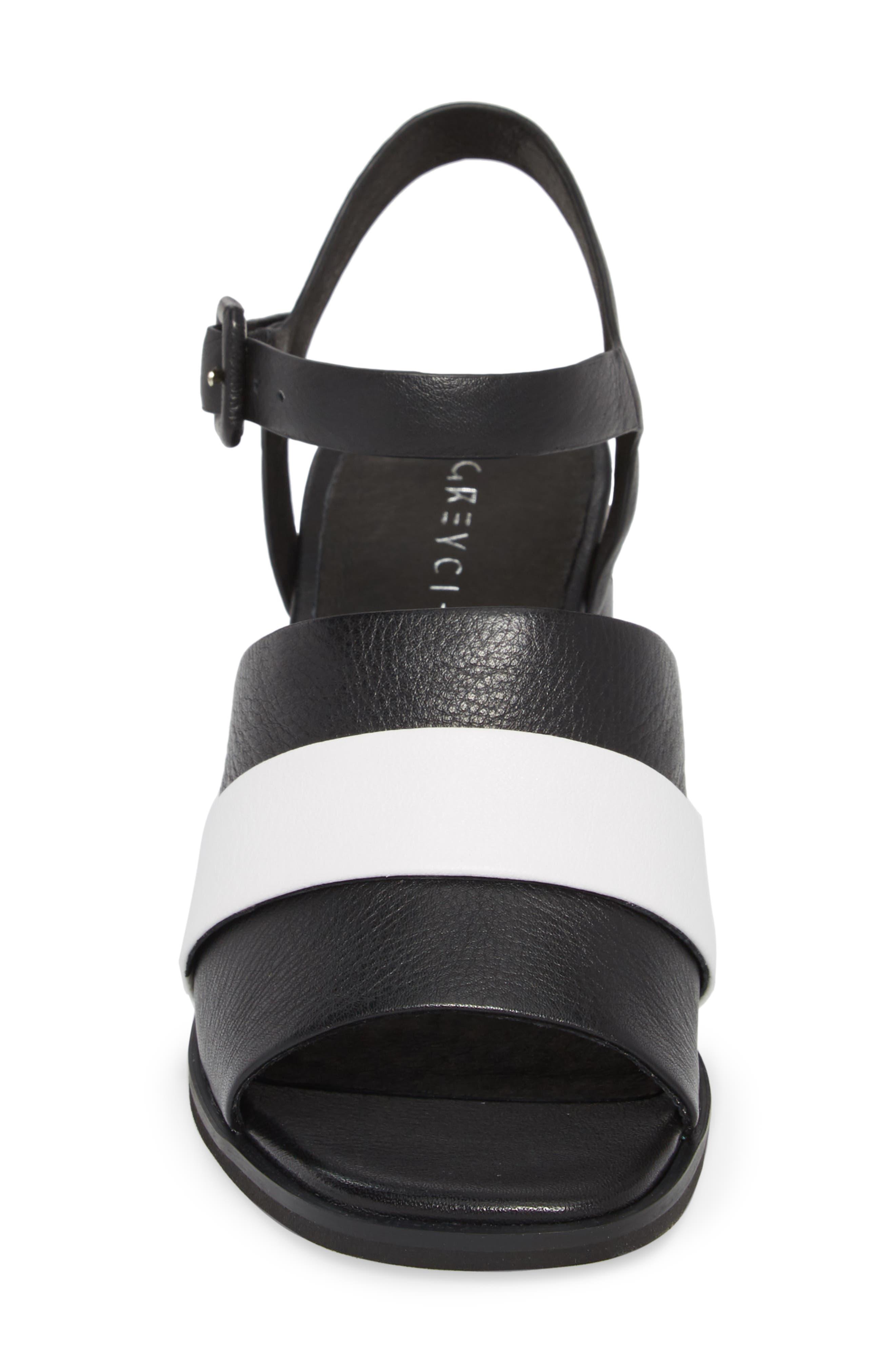 Ren Sandal,                             Alternate thumbnail 4, color,                             Black/ White