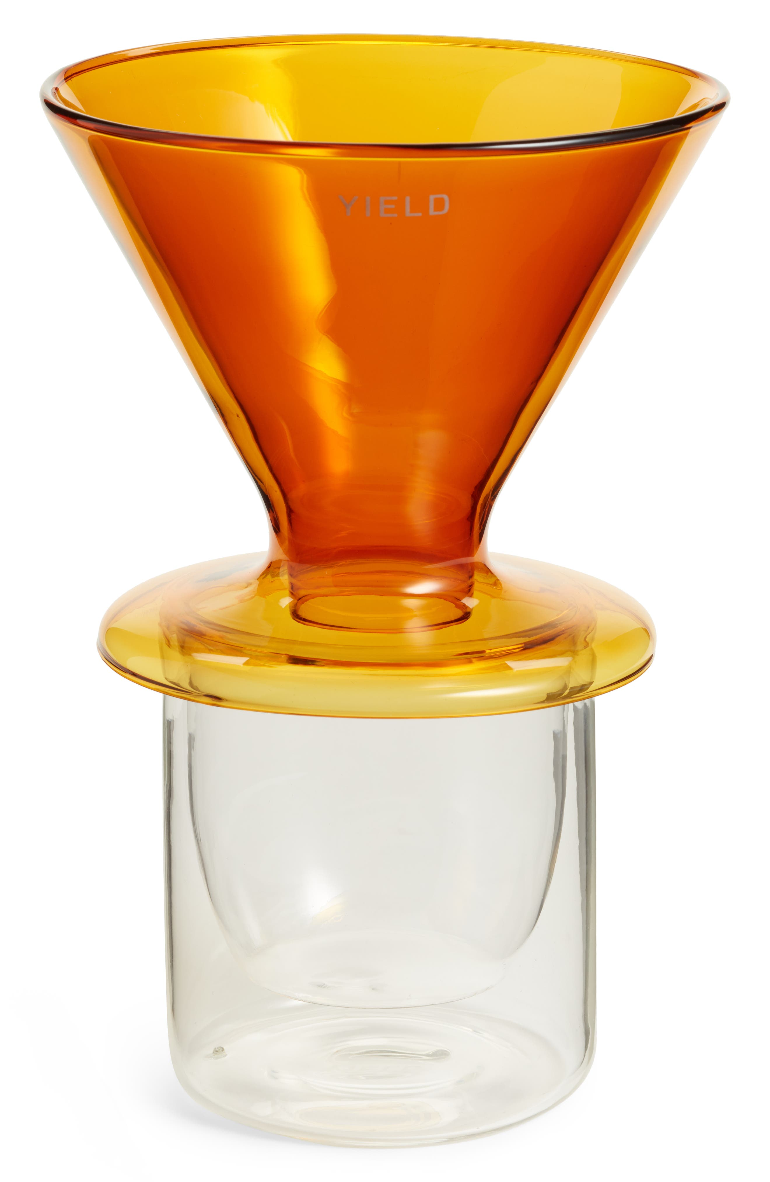 Double Wall Pour Over Coffee Maker,                             Alternate thumbnail 2, color,                             Amber