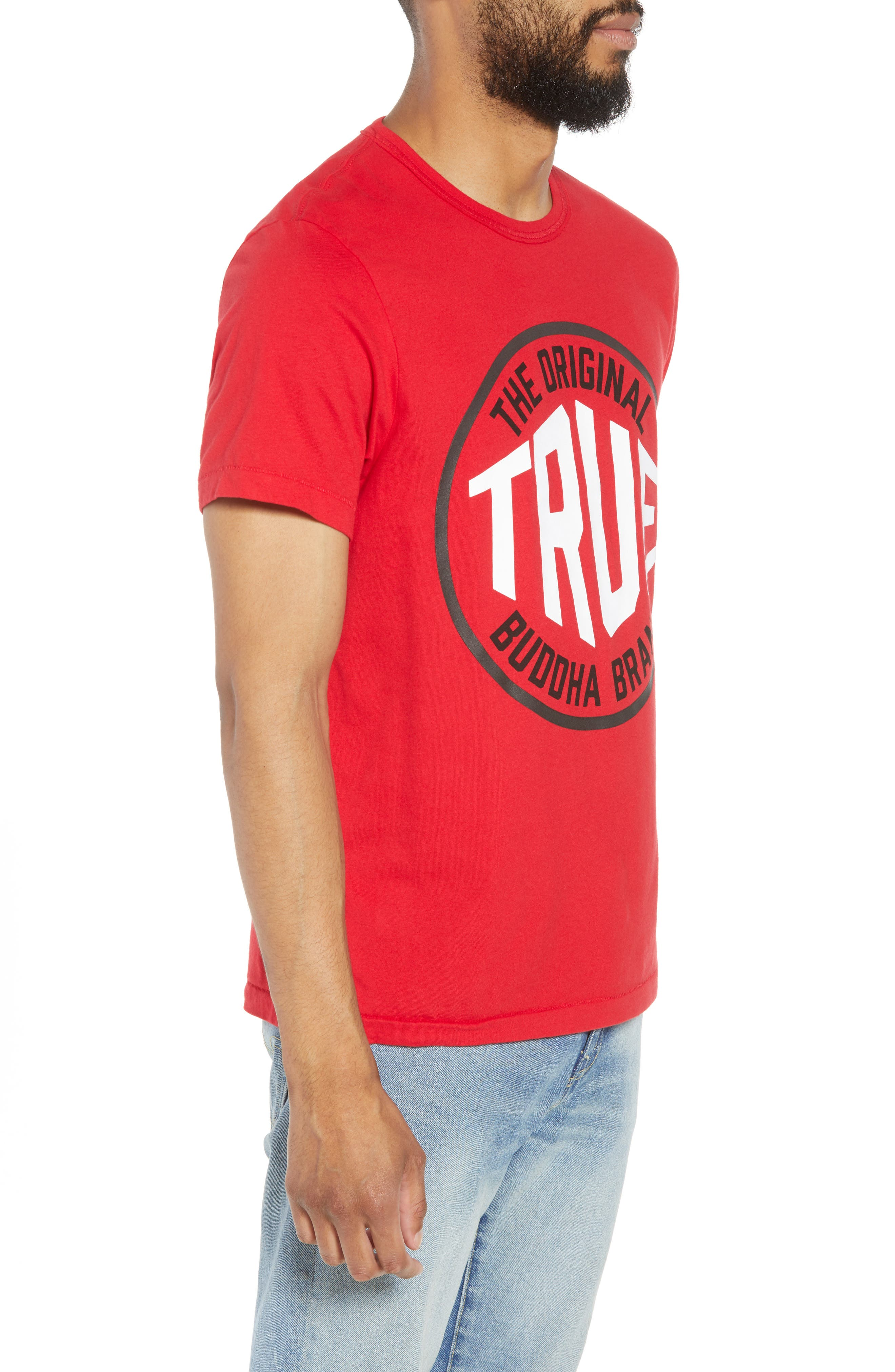 Outfield T-Shirt,                             Alternate thumbnail 3, color,                             True Red