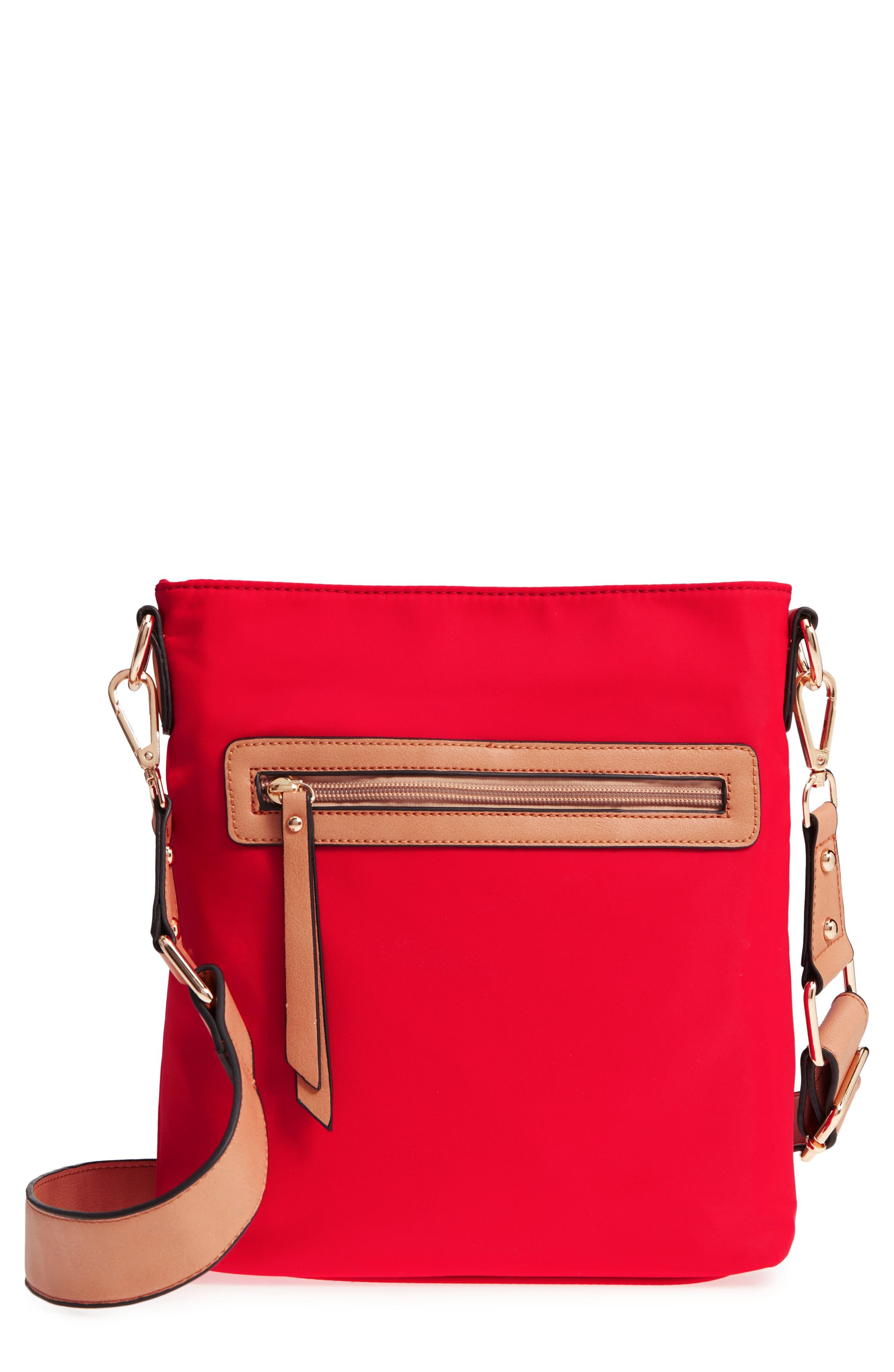 Guitar Strap Crossbody Bag,                             Main thumbnail 1, color,                             Red