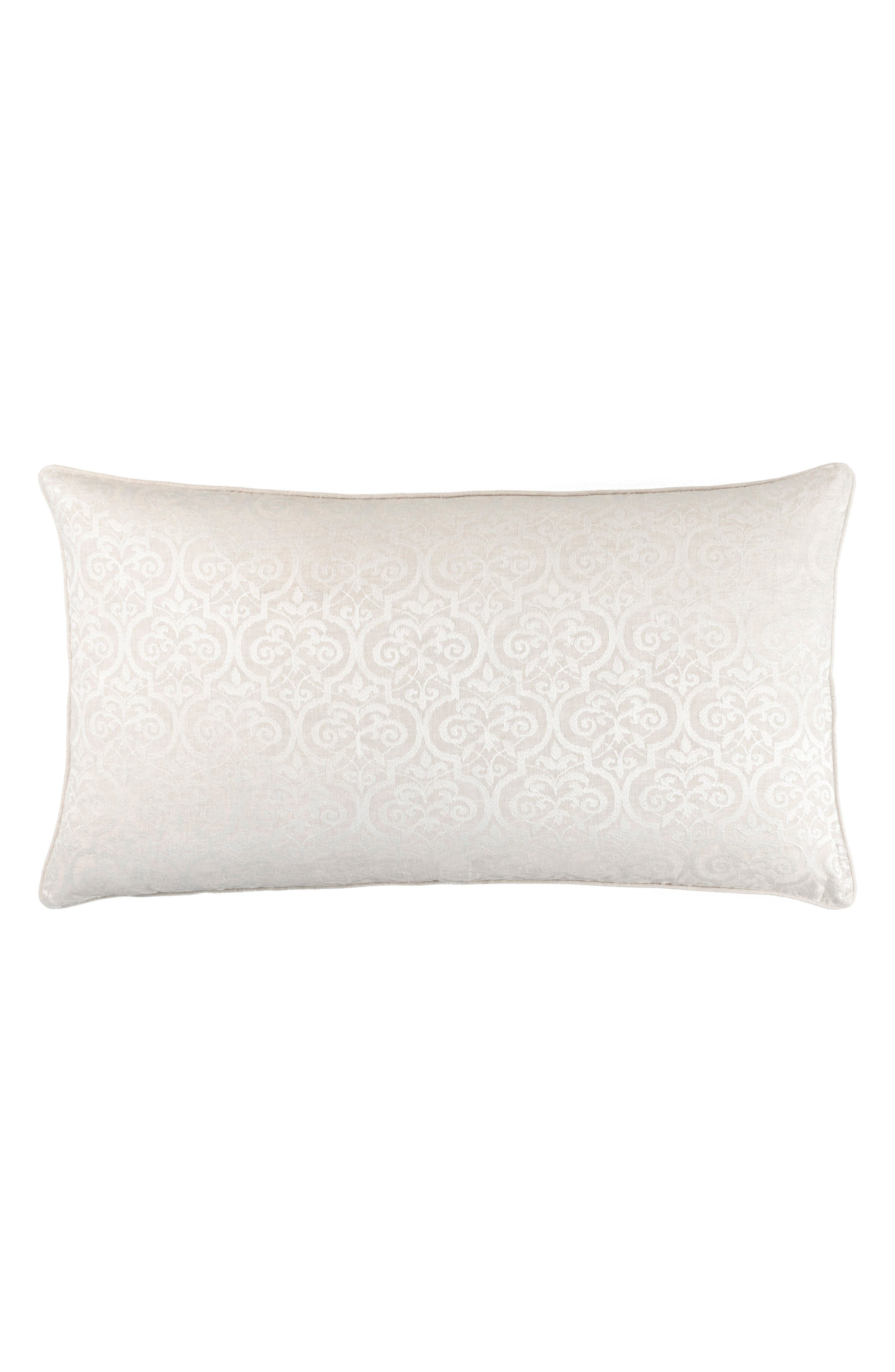 Gwendolyn Embroidered Accent Pillow,                         Main,                         color, Ivory