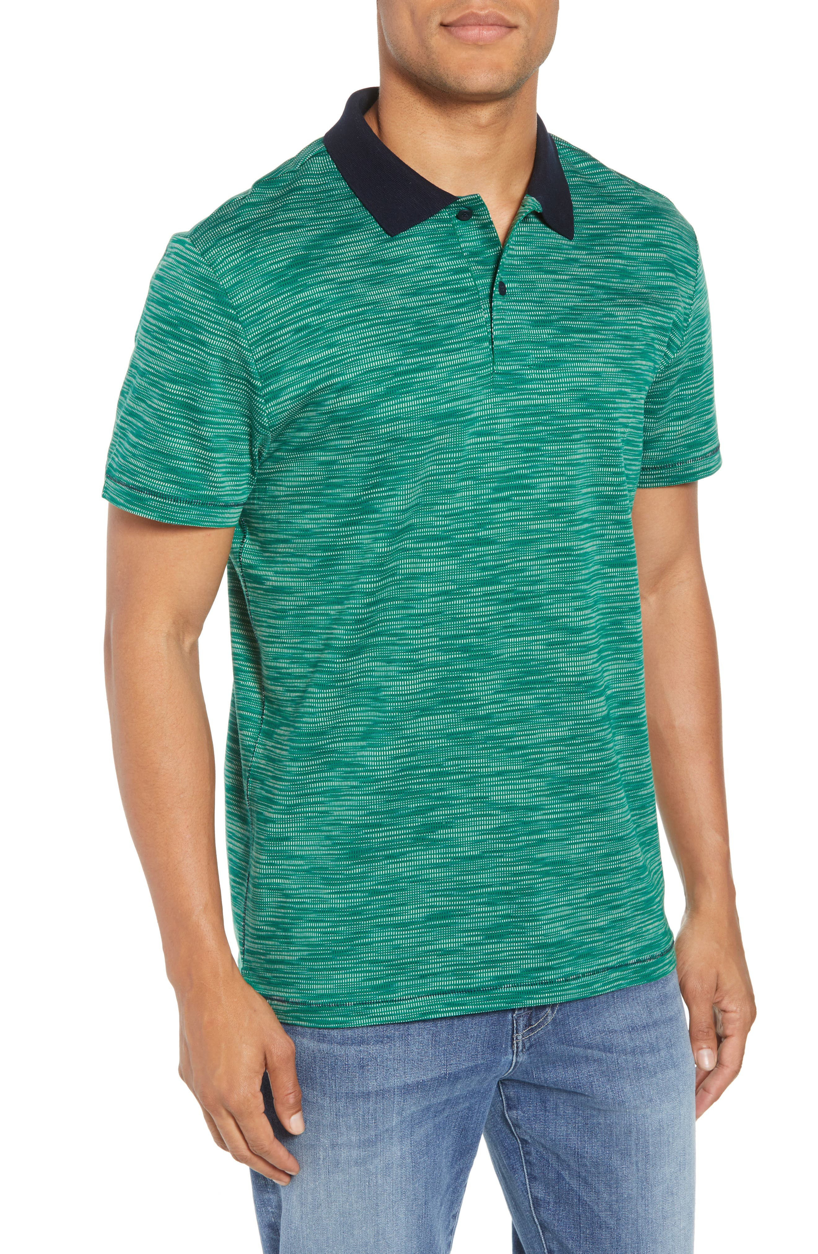 Tay Street Regular Fit Polo,                         Main,                         color, Emerald
