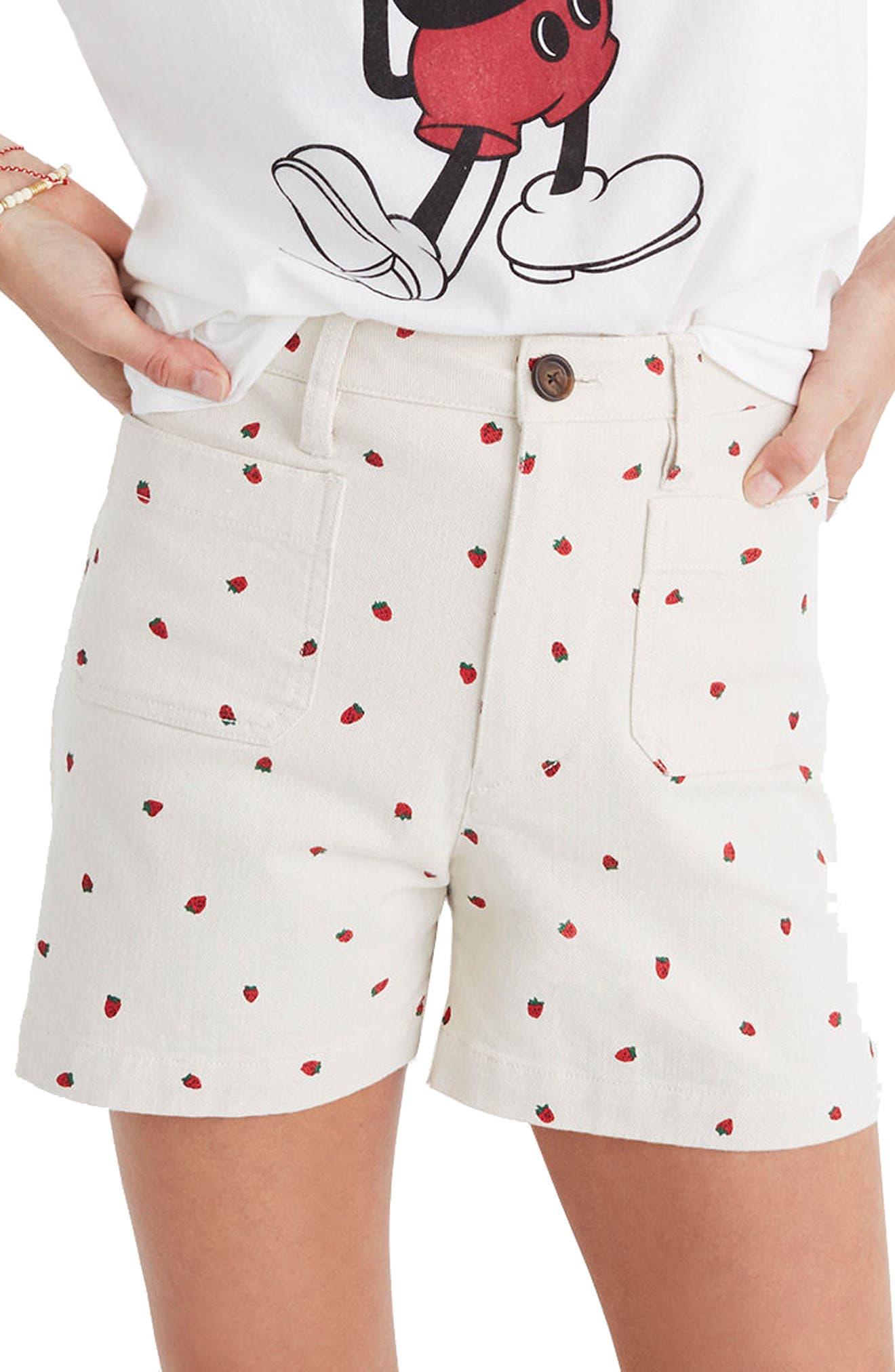 Emmett Fresh Strawberries Shorts,                             Main thumbnail 1, color,                             Strawberry Distressed Stone
