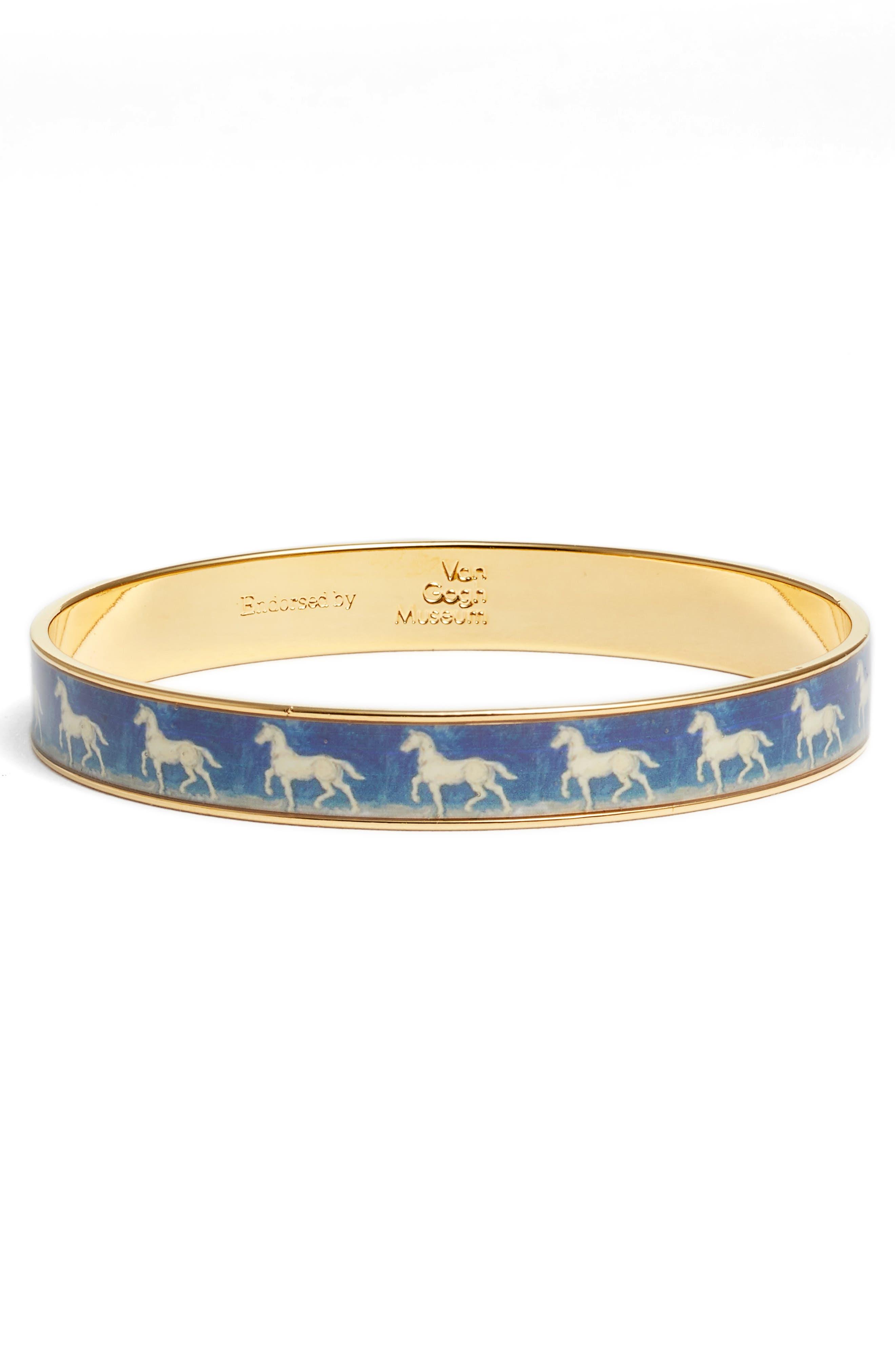 Blue Horse Medium Bracelet,                             Main thumbnail 1, color,                             Blue/ Gold