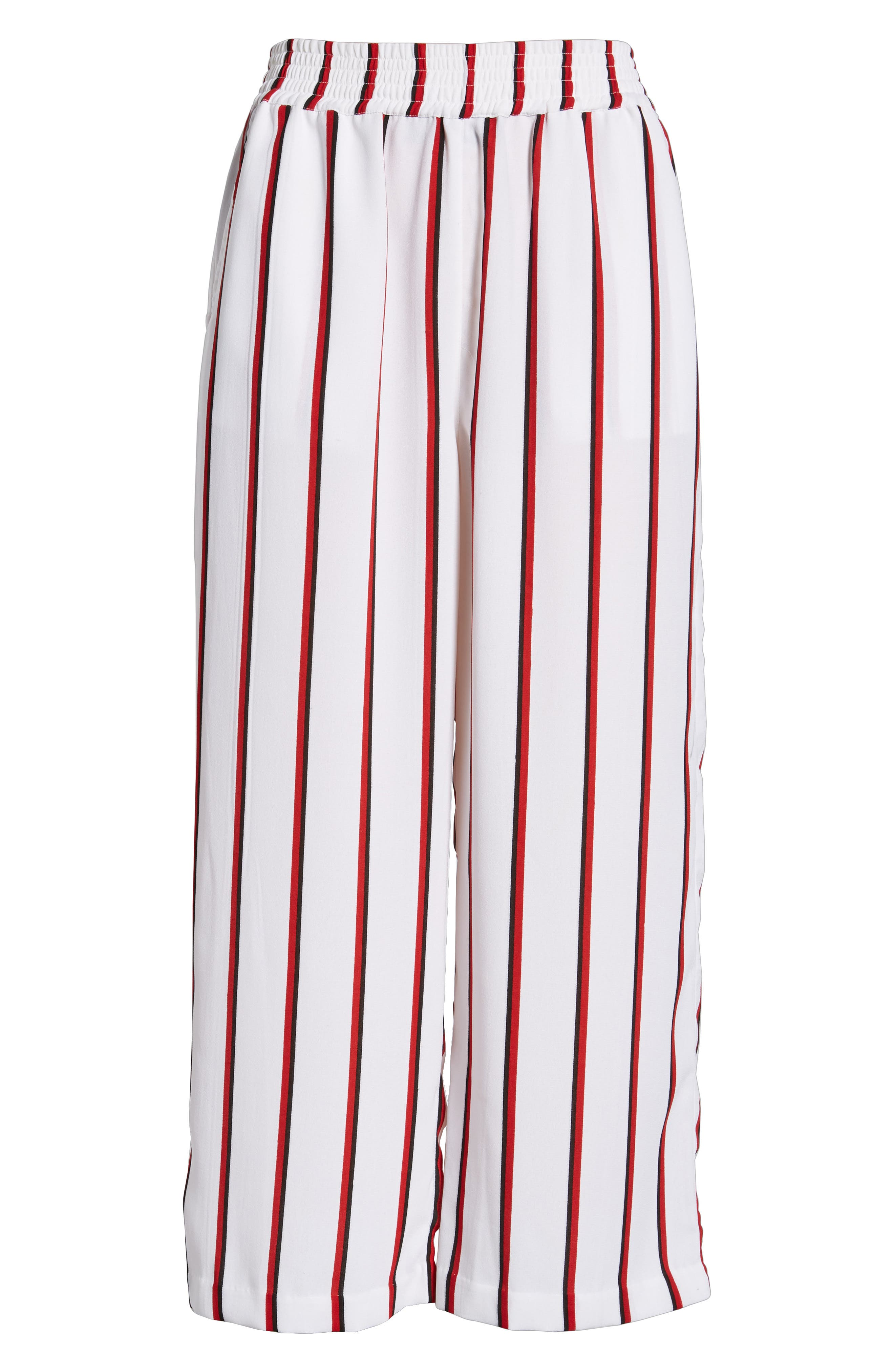 Counting Moons Stripe Culottes,                             Alternate thumbnail 6, color,                             Chili Red