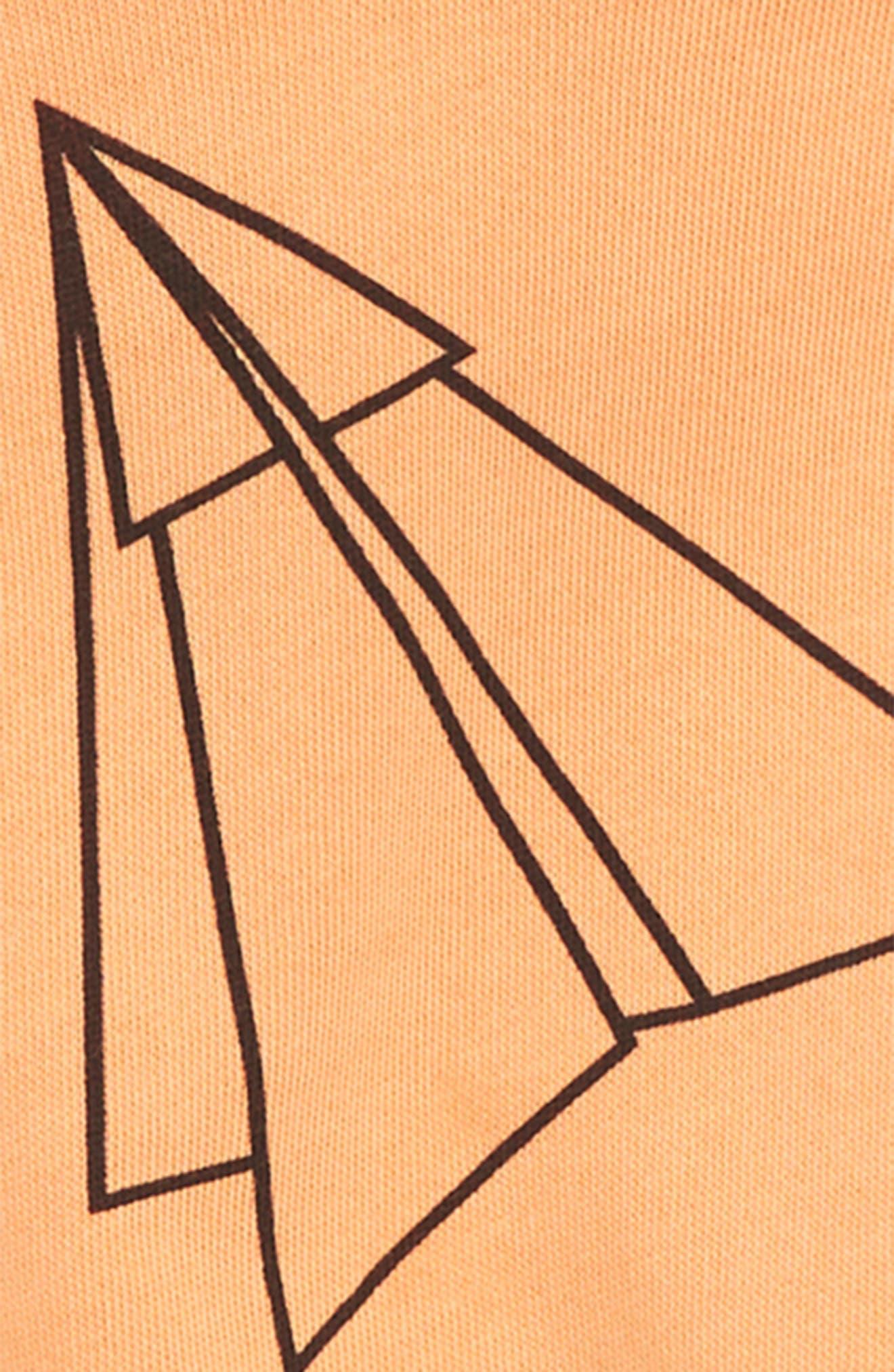 Short Sleeve Hoodie,                             Alternate thumbnail 2, color,                             Orange Nectar Airplanes