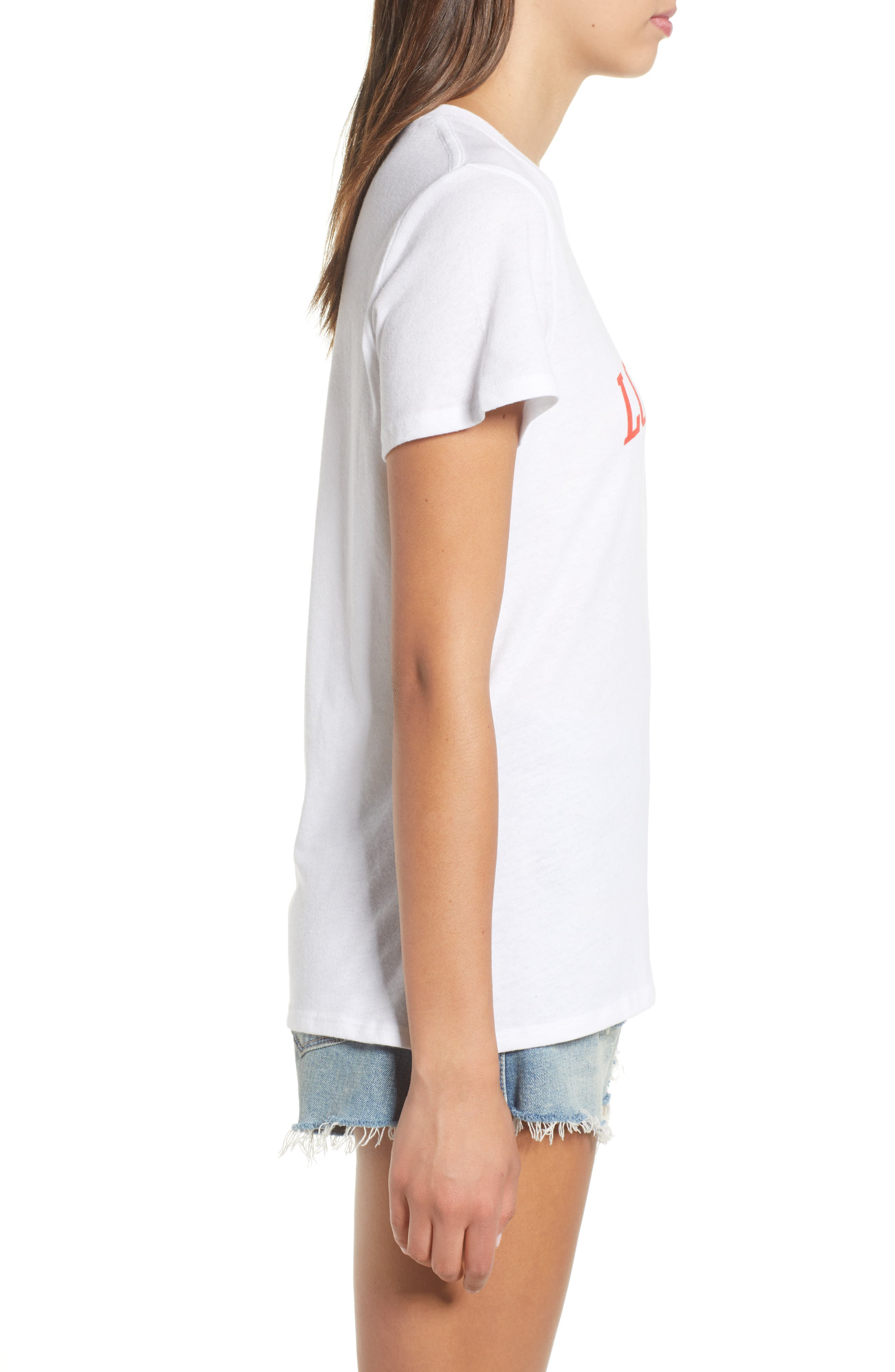 Love Wins Slouched Tee,                             Alternate thumbnail 3, color,                             White