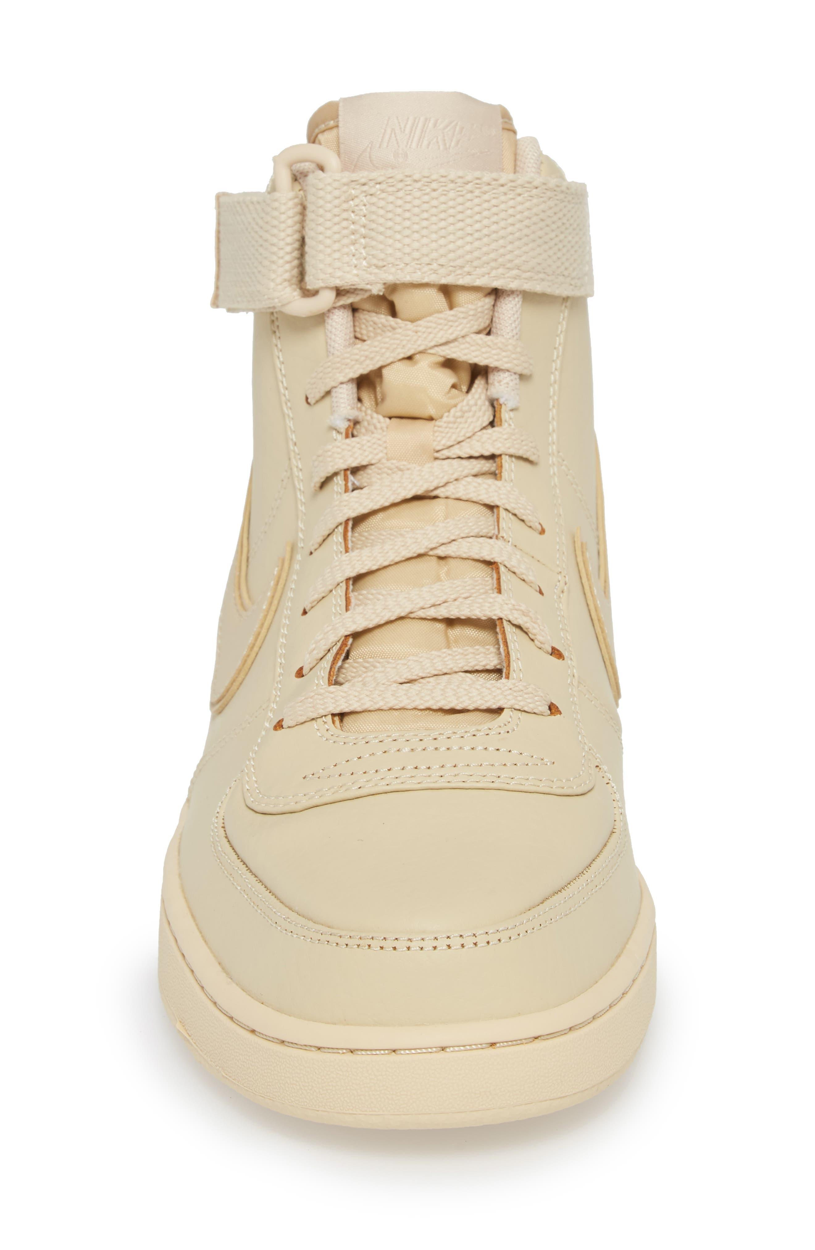 Vandal High Supreme Leather Sneaker,                             Alternate thumbnail 4, color,                             Desert Ore