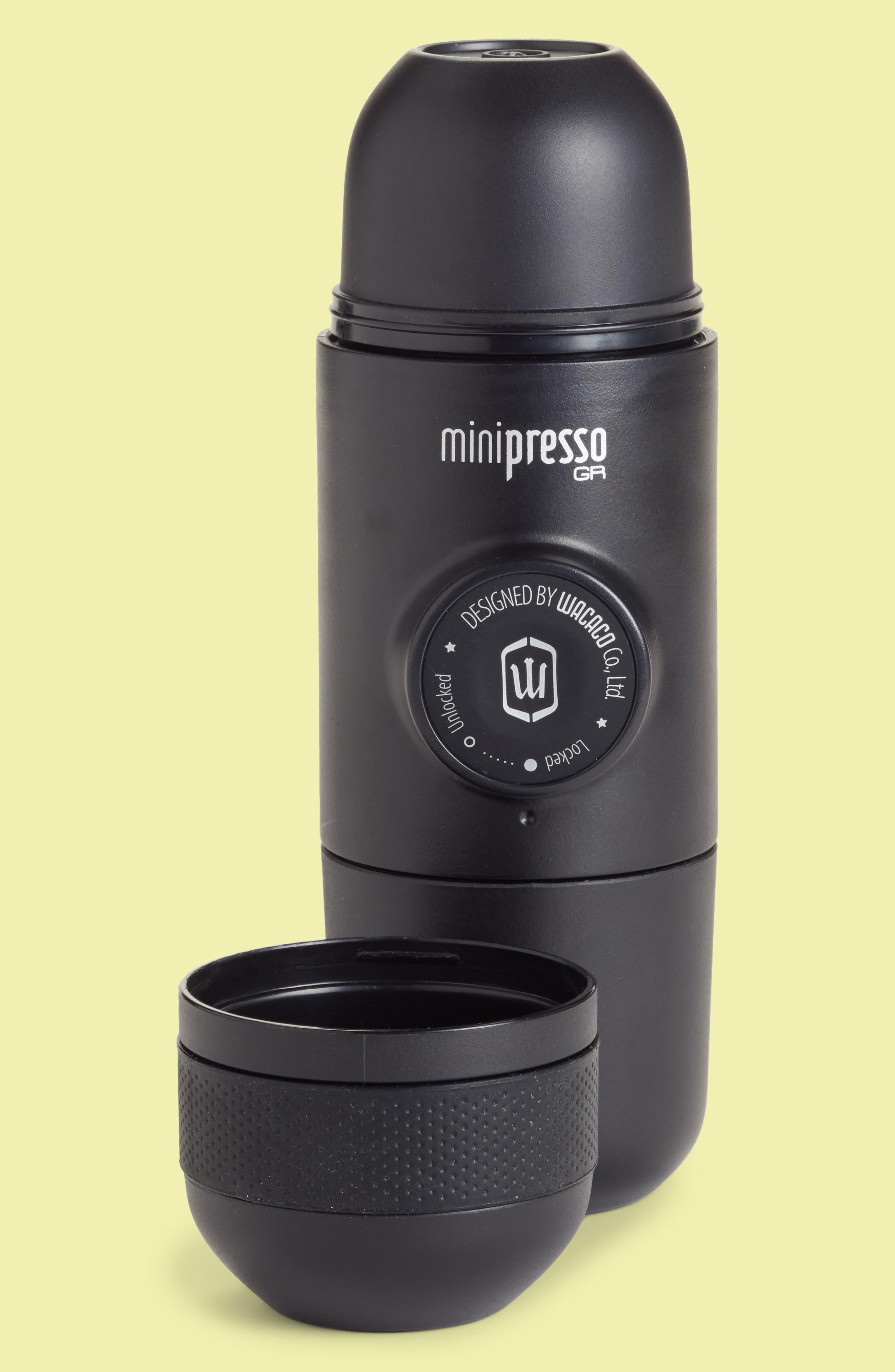 Minipresso GR Portable Espresso Machine,                         Main,                         color, Black