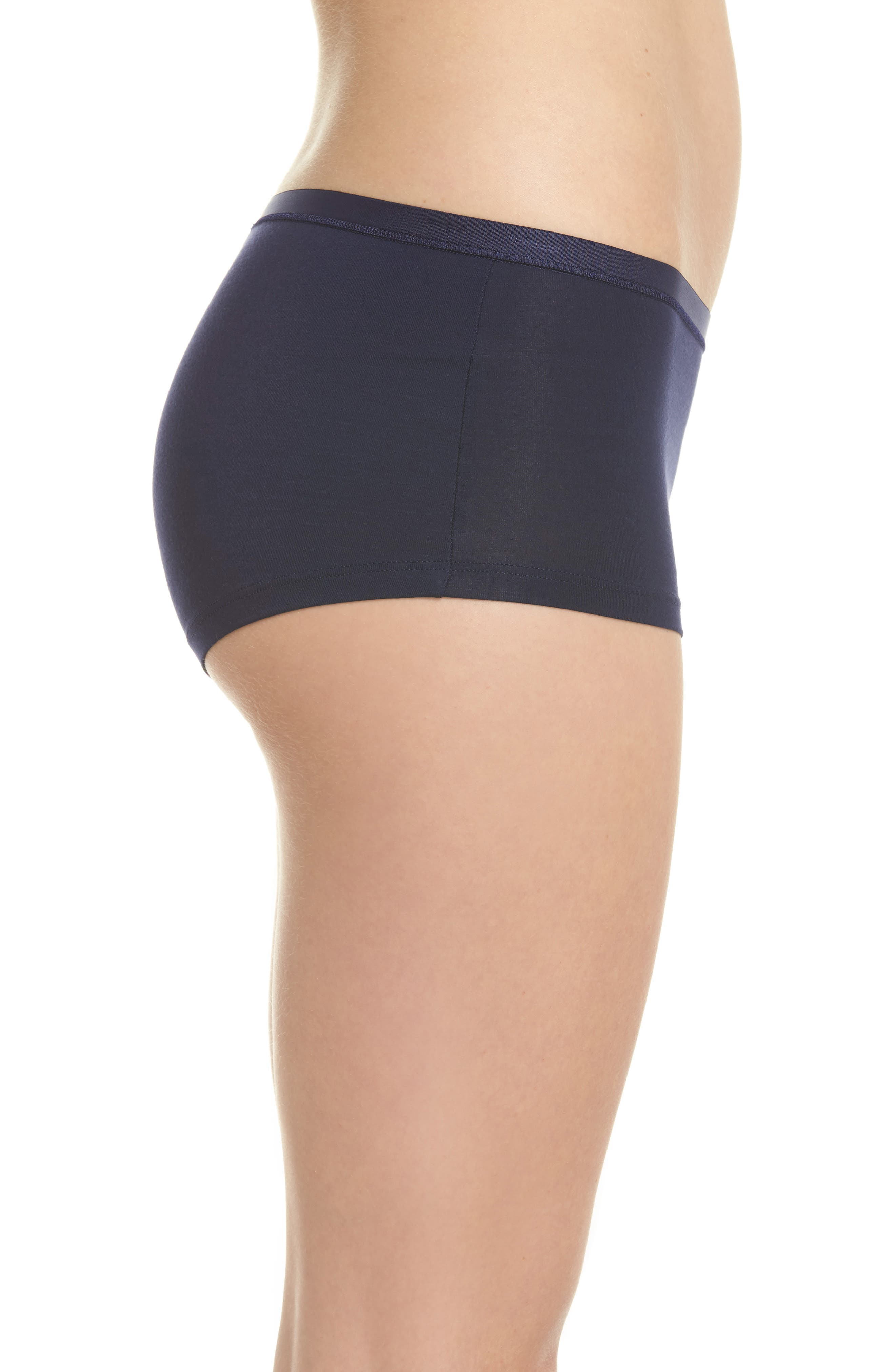 Soft Touch Stretch Modal Boyshorts,                             Alternate thumbnail 3, color,                             Crown Blue