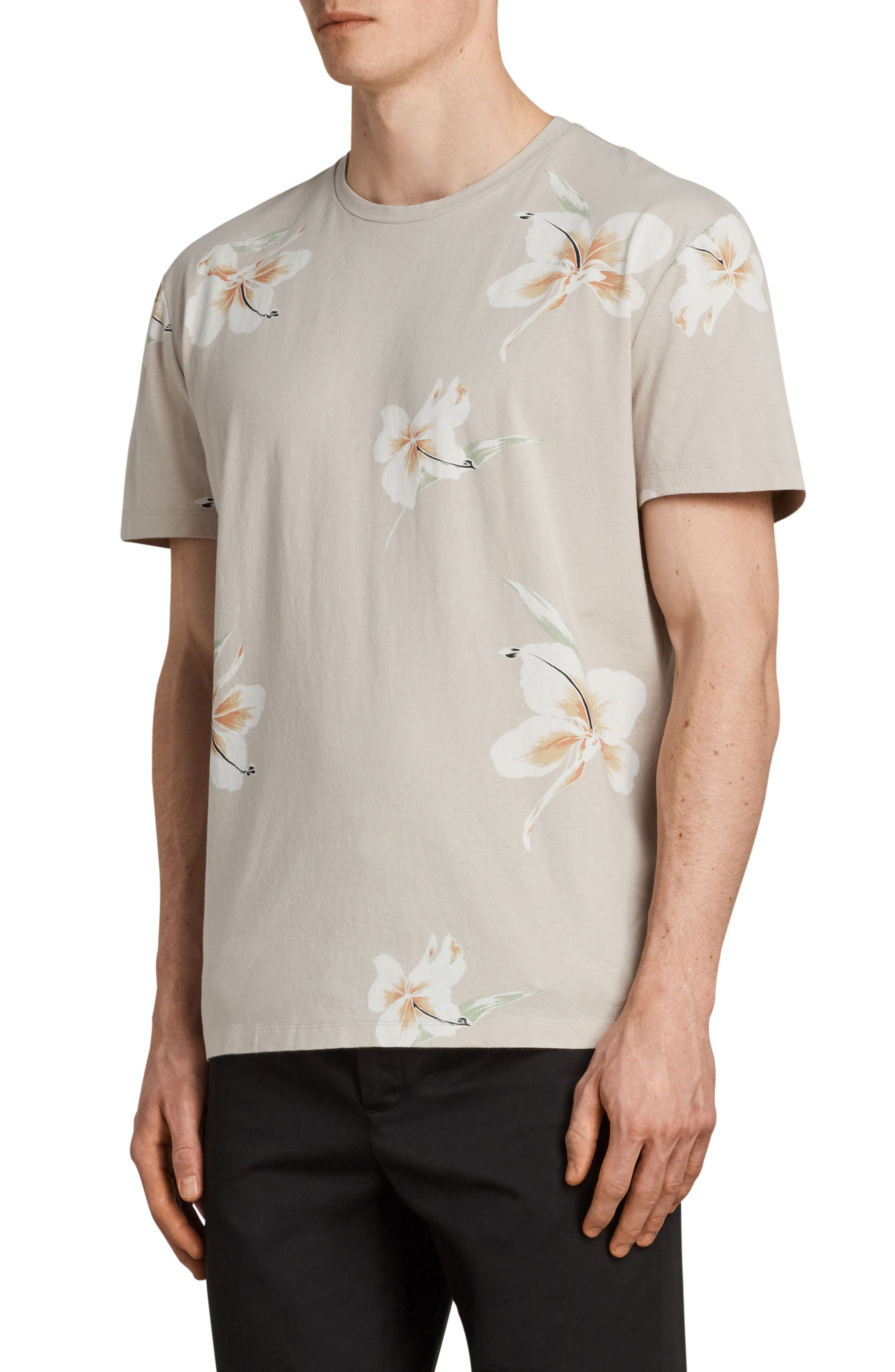Lily Short Sleeve T-Shirt,                             Alternate thumbnail 3, color,                             Dark Grey
