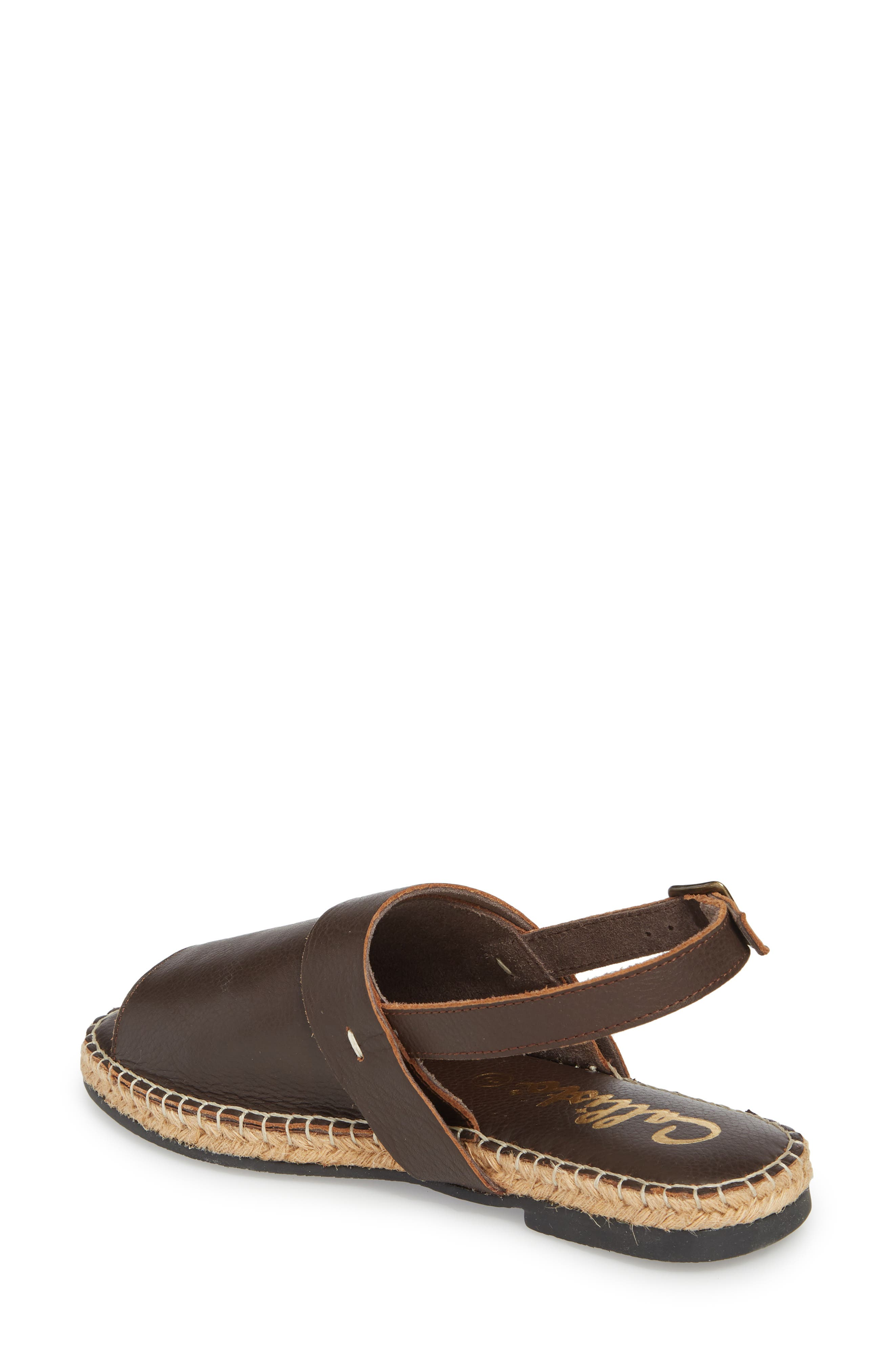 Turn Key Espadrille Sandal,                             Alternate thumbnail 2, color,                             Brown Leather