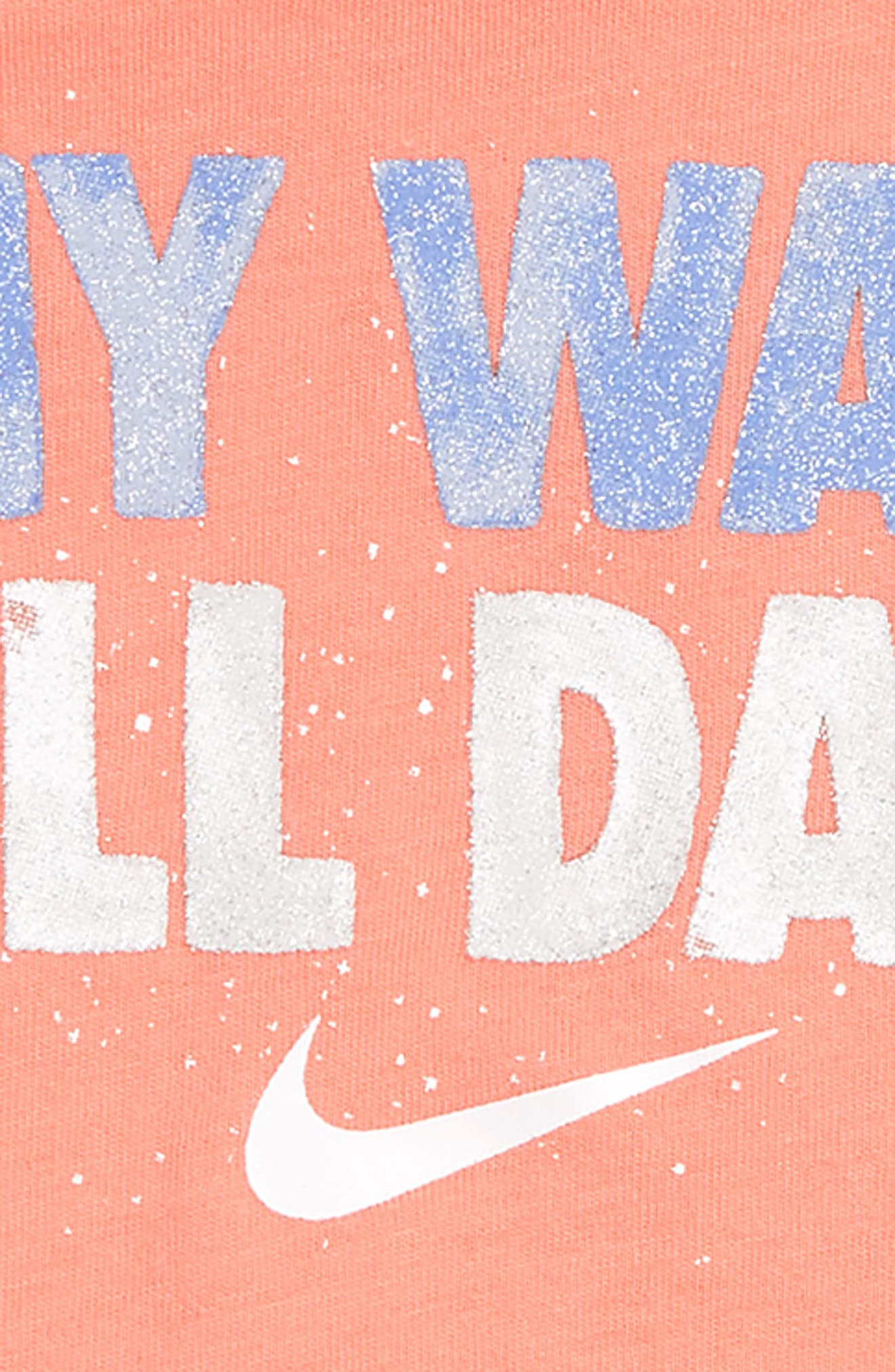 My Way All Day Graphic Tee & Shorts Set,                             Alternate thumbnail 2, color,                             Royal Pulse
