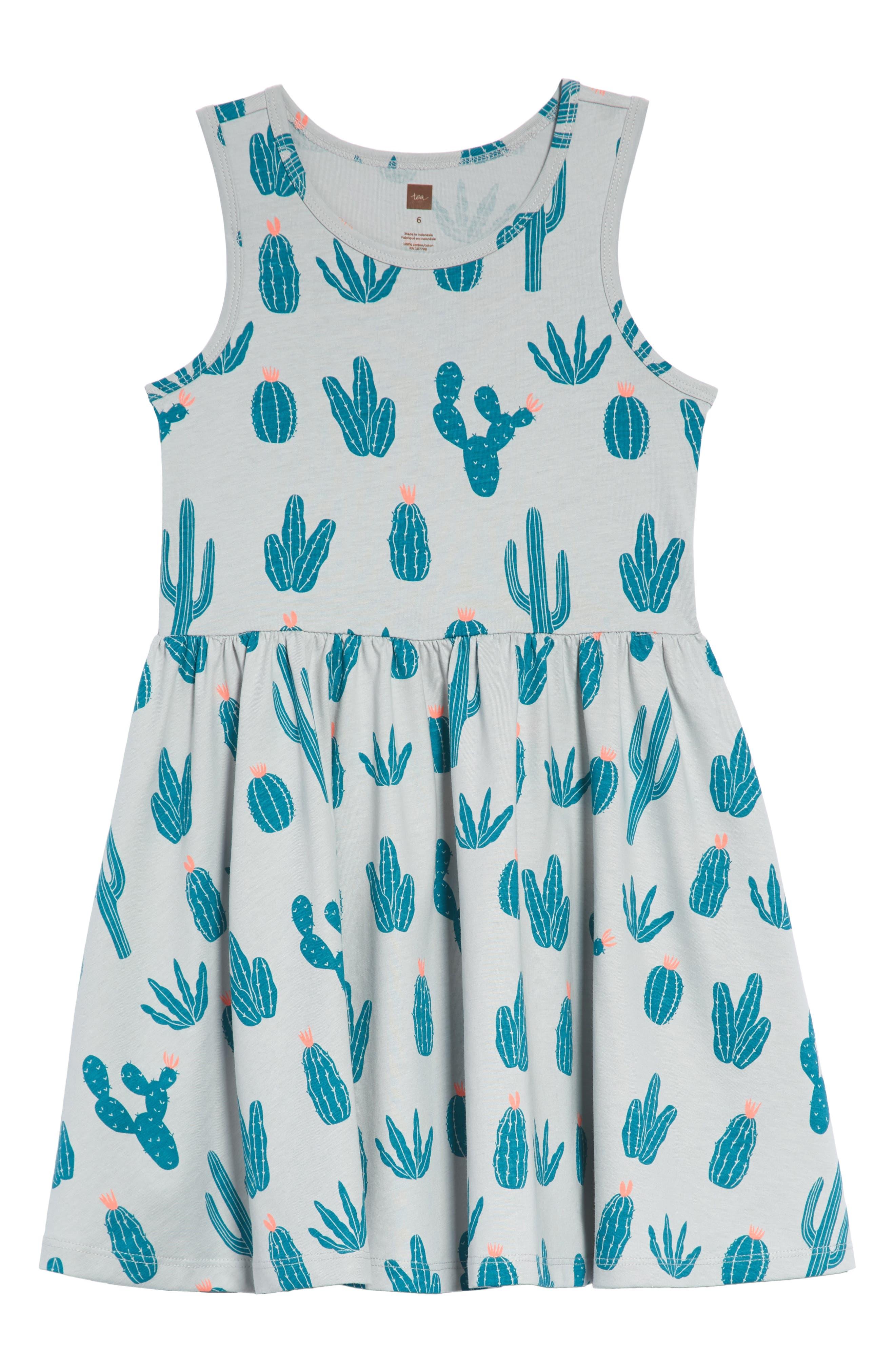 Tea Collection Print Skirted Tank Dress (Toddler Girls, Little Girls & Big Girls)
