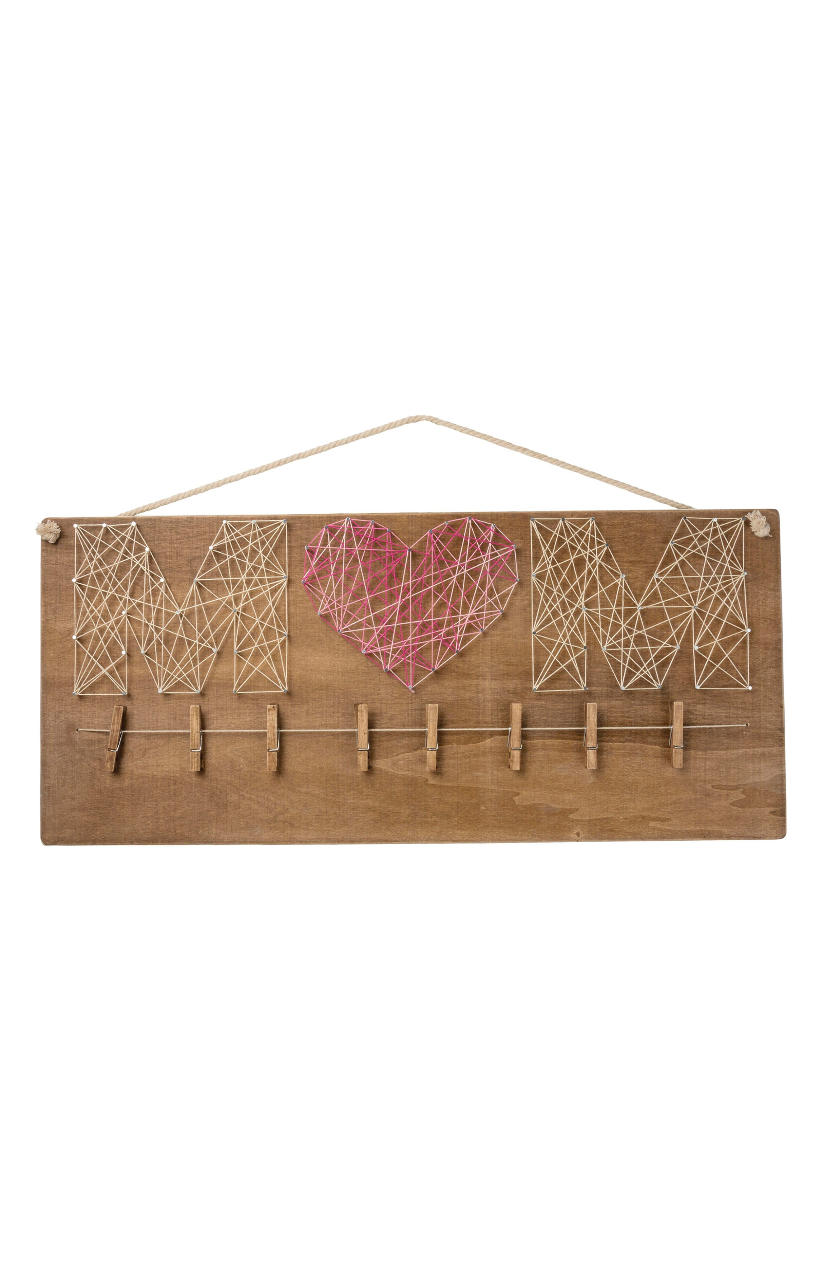 Primitives by Kathy Mom String Art Photo Sign