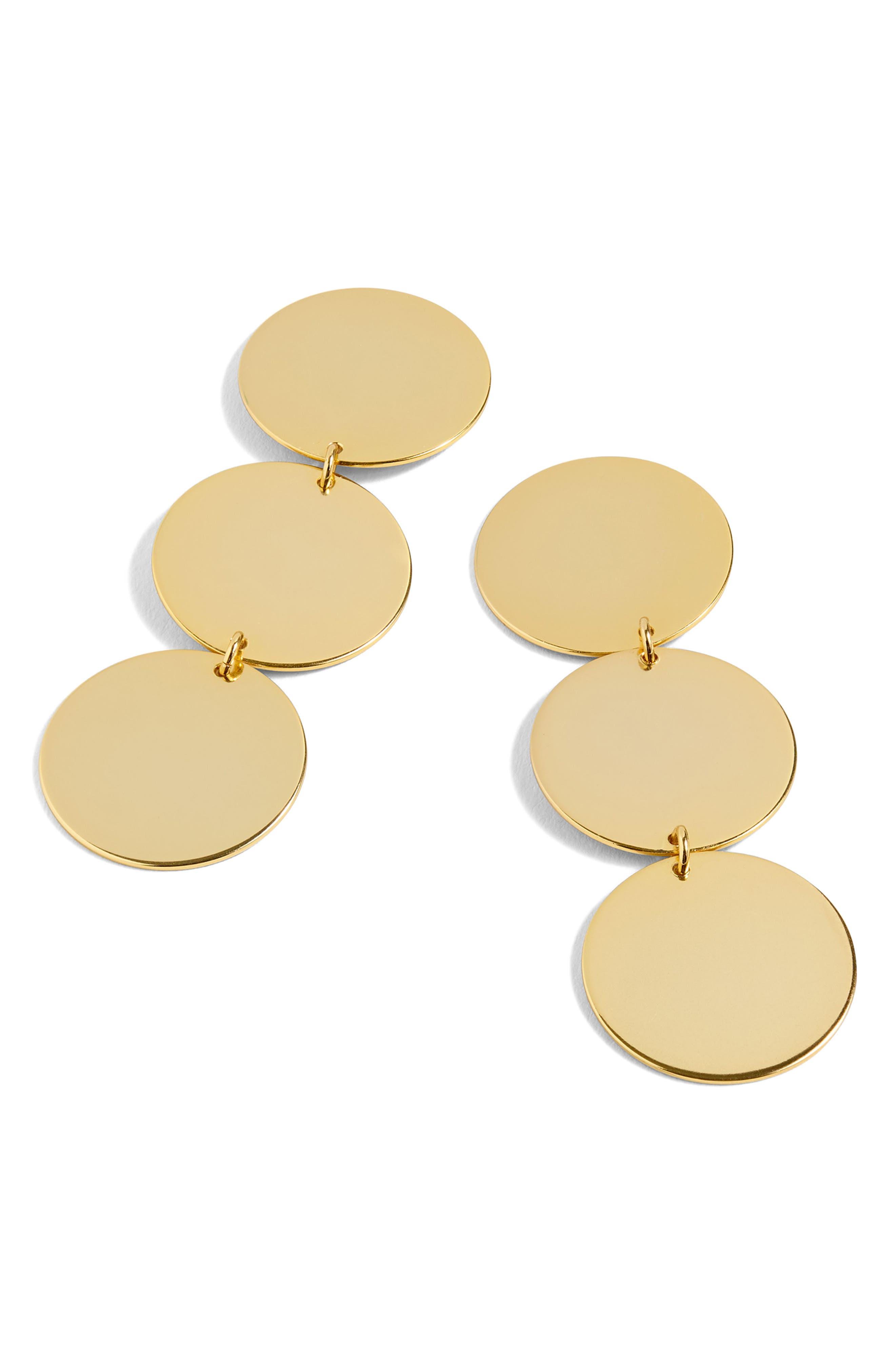 J.Crew Resin Disc Drop Earrings,                         Main,                         color, Gold Multi