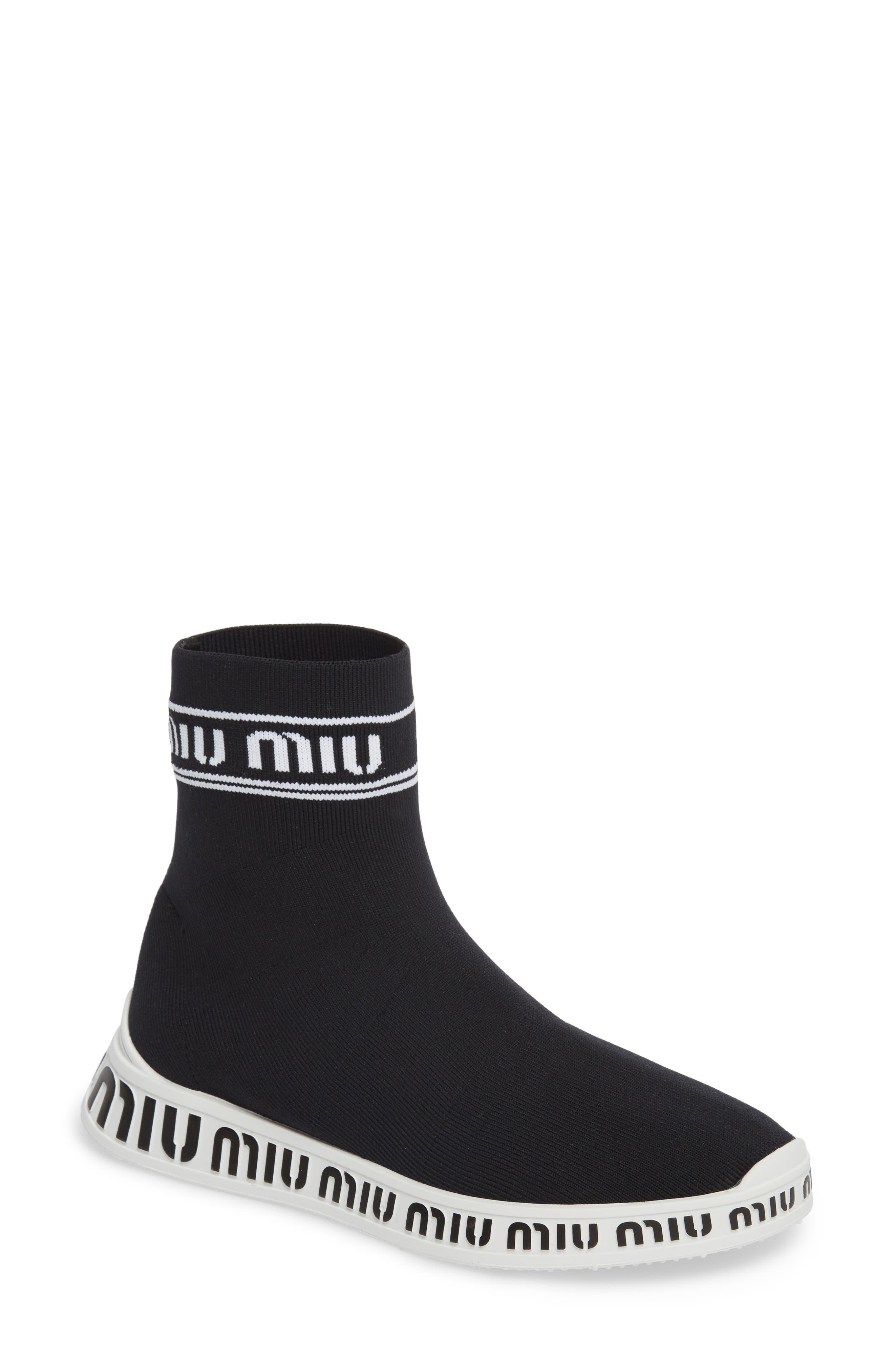 Miu Miu Slip-On Logo Sneaker (Women)