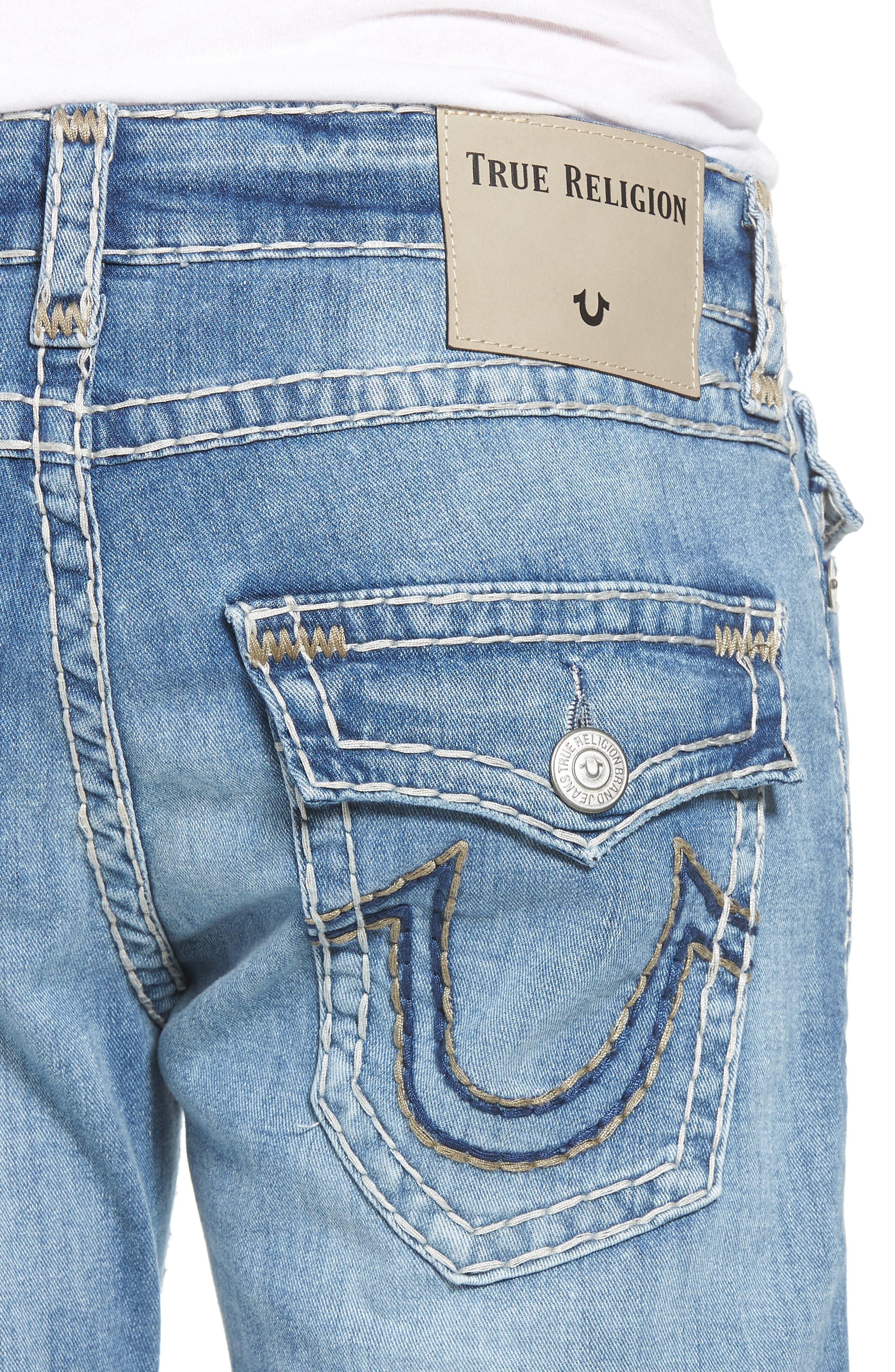 Geno Straight Leg Jeans,                             Alternate thumbnail 4, color,                             Satellite