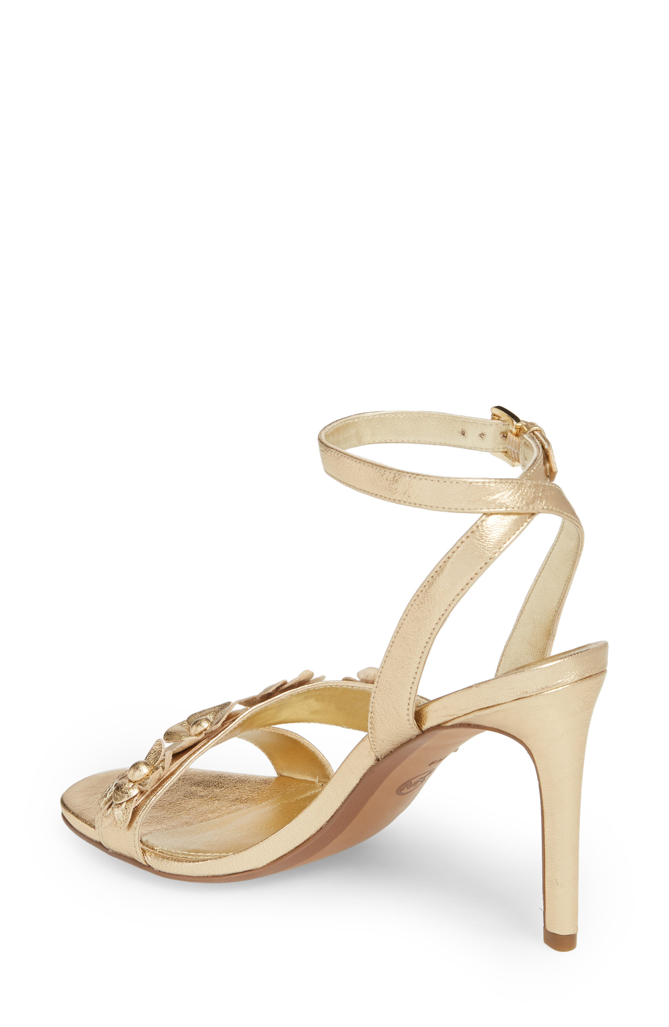 Tricia Sandal,                             Alternate thumbnail 2, color,                             Pale Gold Leather